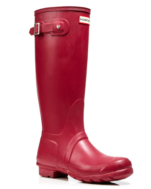 hunter rain boots original tall in red lyst. Black Bedroom Furniture Sets. Home Design Ideas