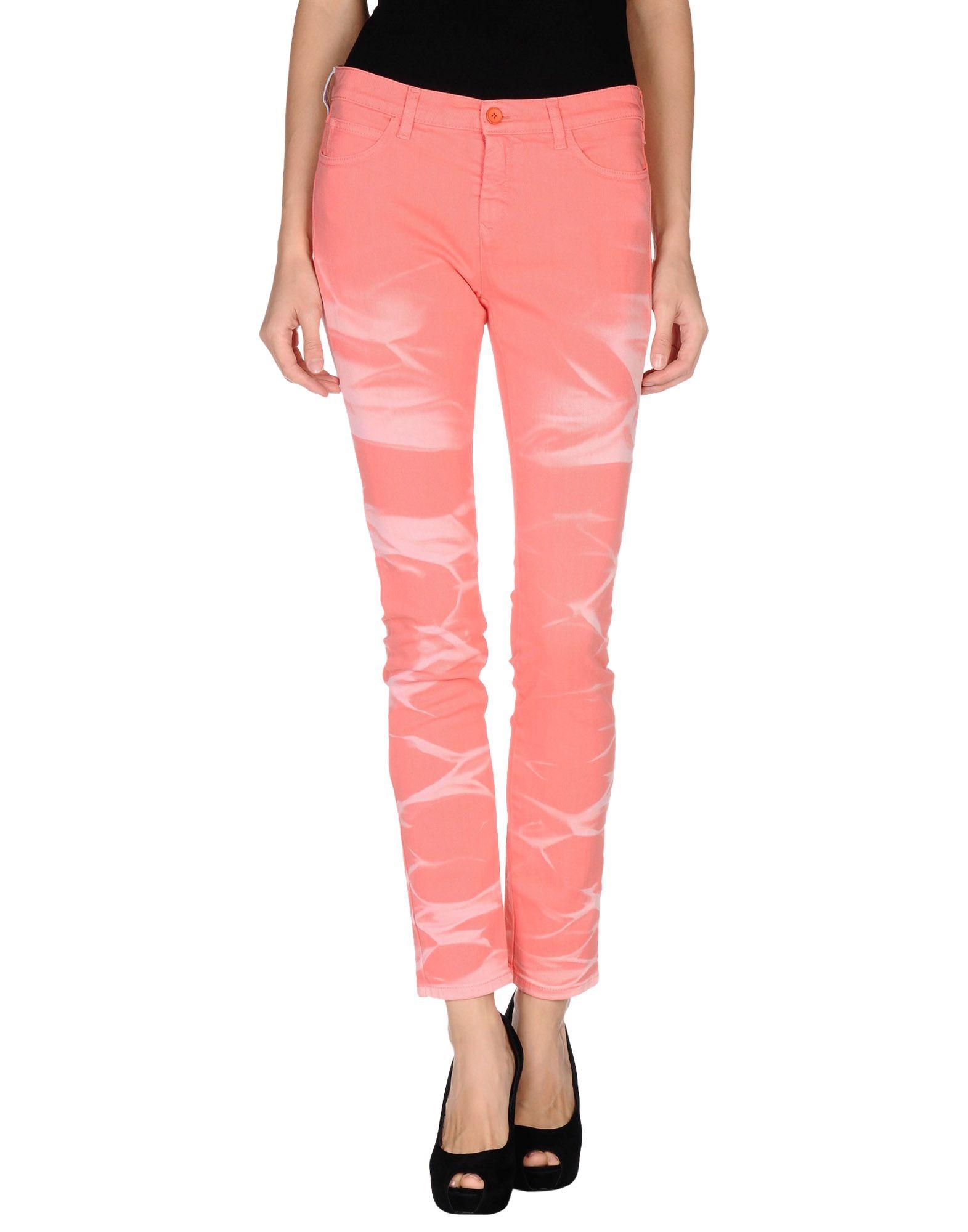 Lyst mm6 by maison martin margiela denim pants in pink for 10 moulmein rise la maison