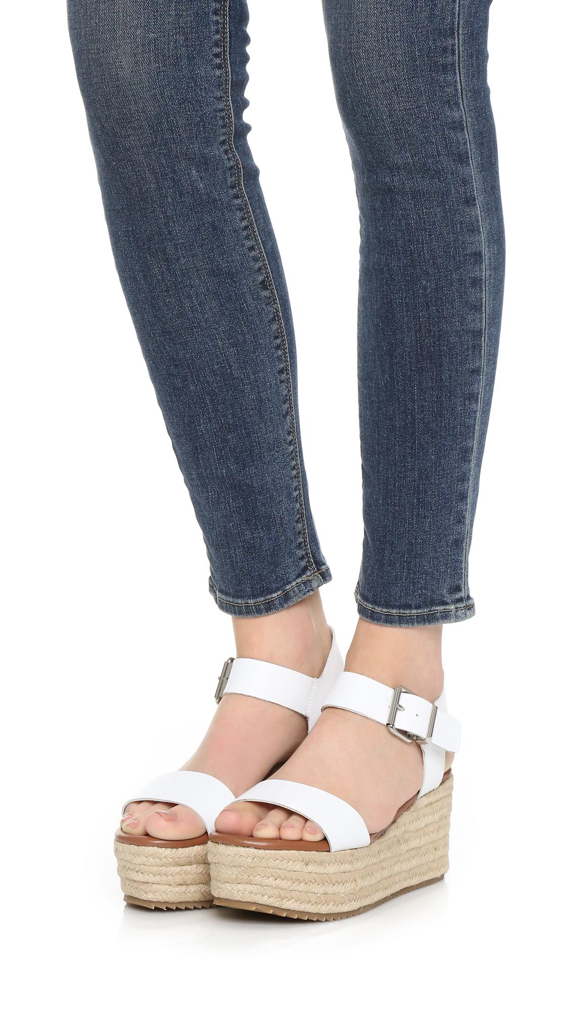 9cad16b1037 Lyst - Steven by Steve Madden Sabbie Flatform Sandals in White