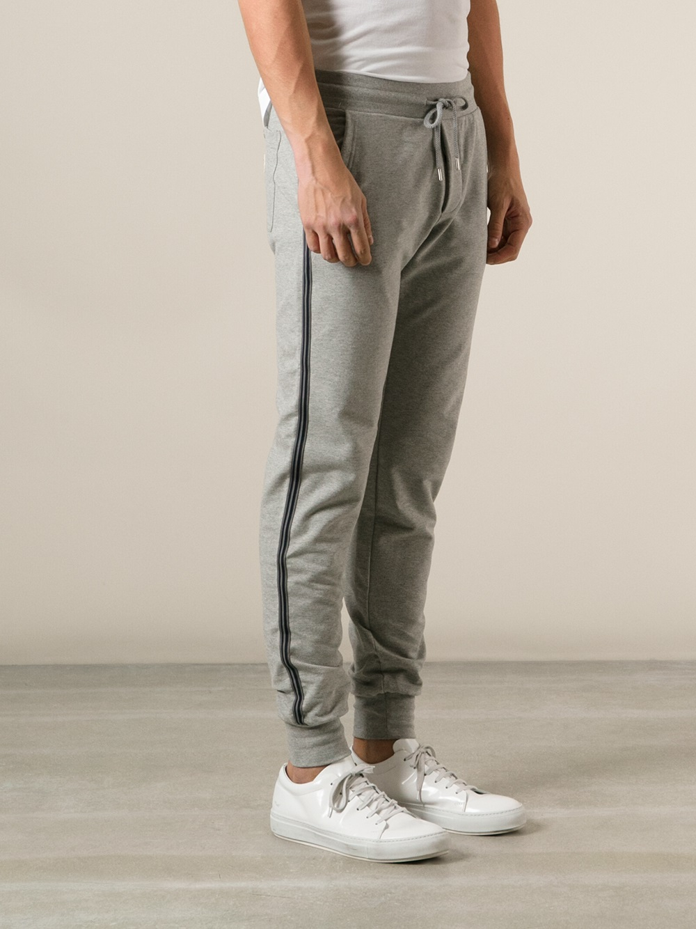 b268748be Lyst - Moncler Track Pants in Gray for Men