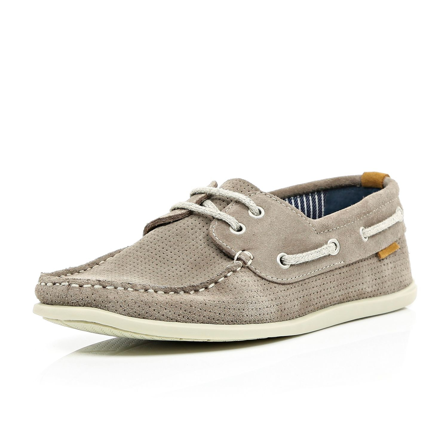 Outlet Locations Sale Online Shopping Discounts Online Mens Grey suede boat shoes River Island Sale 2018 Unisex Free Shipping YaScQ