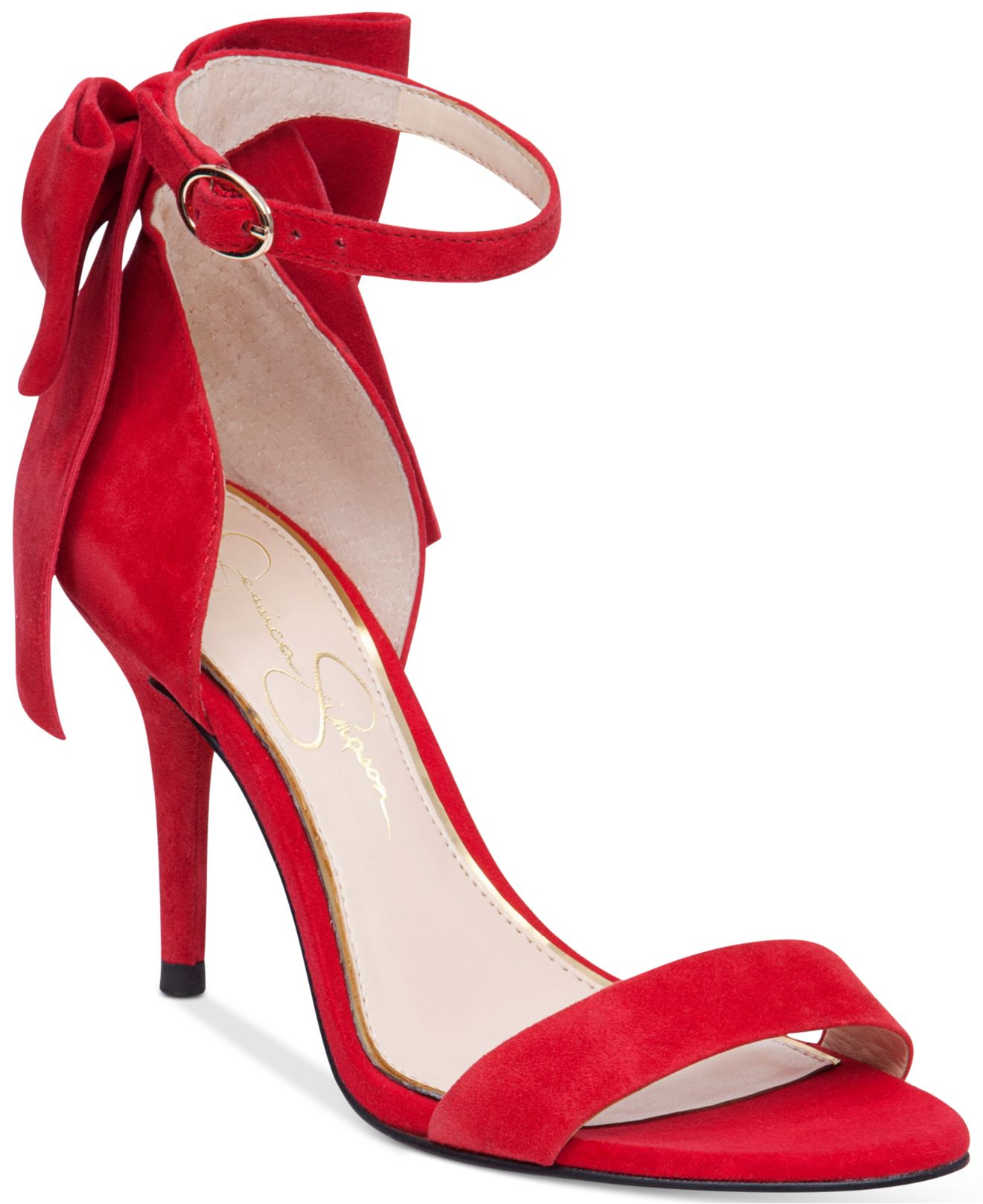 Jessica simpson Millee Dress Sandals in Red  Lyst