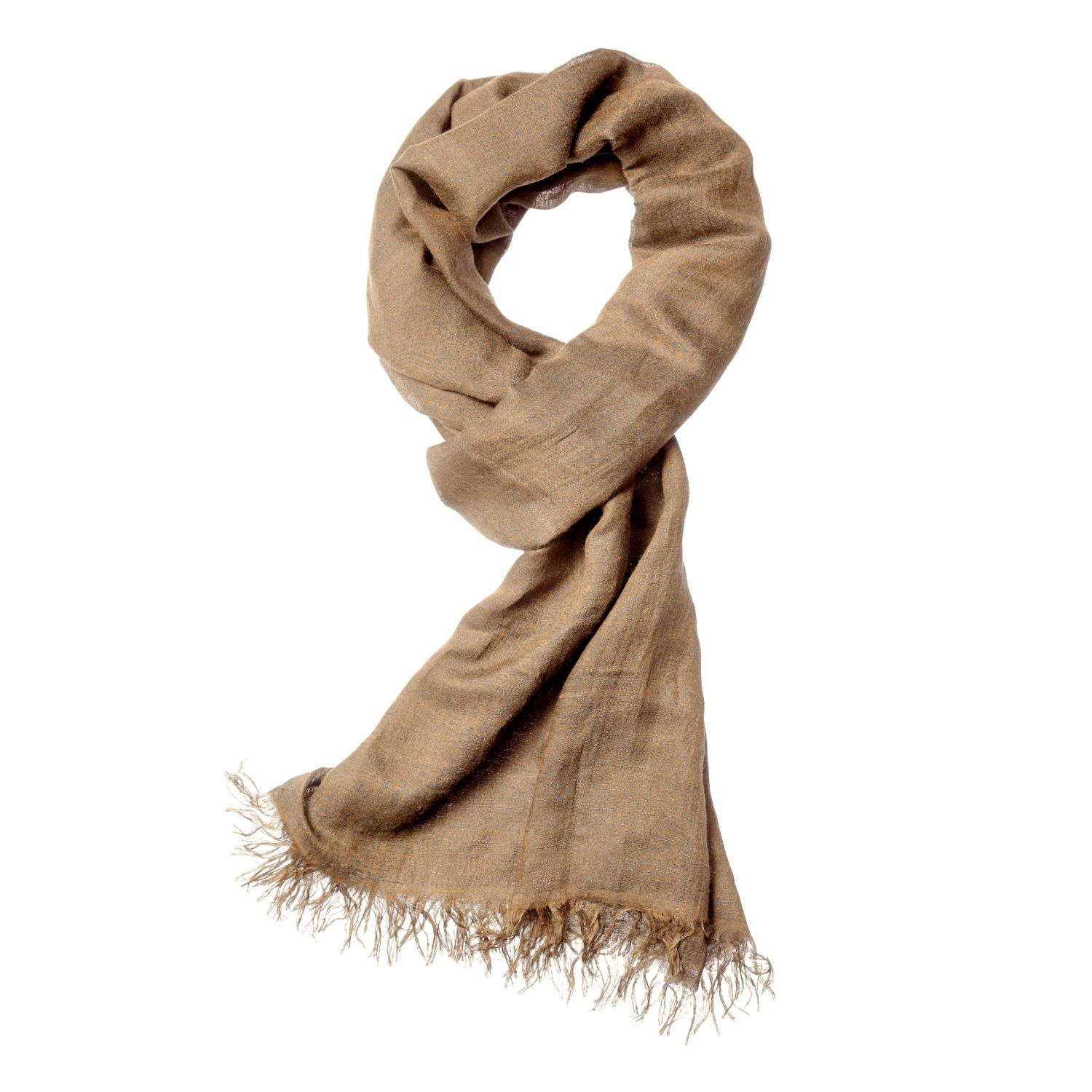 theory novelty scarf in modal in brown fawn lyst
