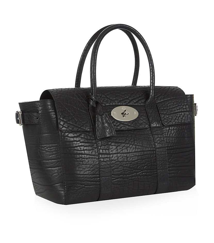 ... ireland mulberry shrunken calf bayswater buckle tote in black lyst  46066 18923 806bbb0a39f44