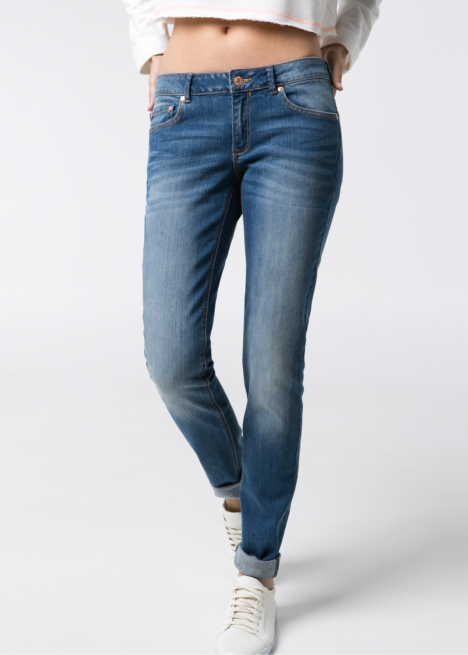 Mango Slim-Fit Alice Jeans in Blue