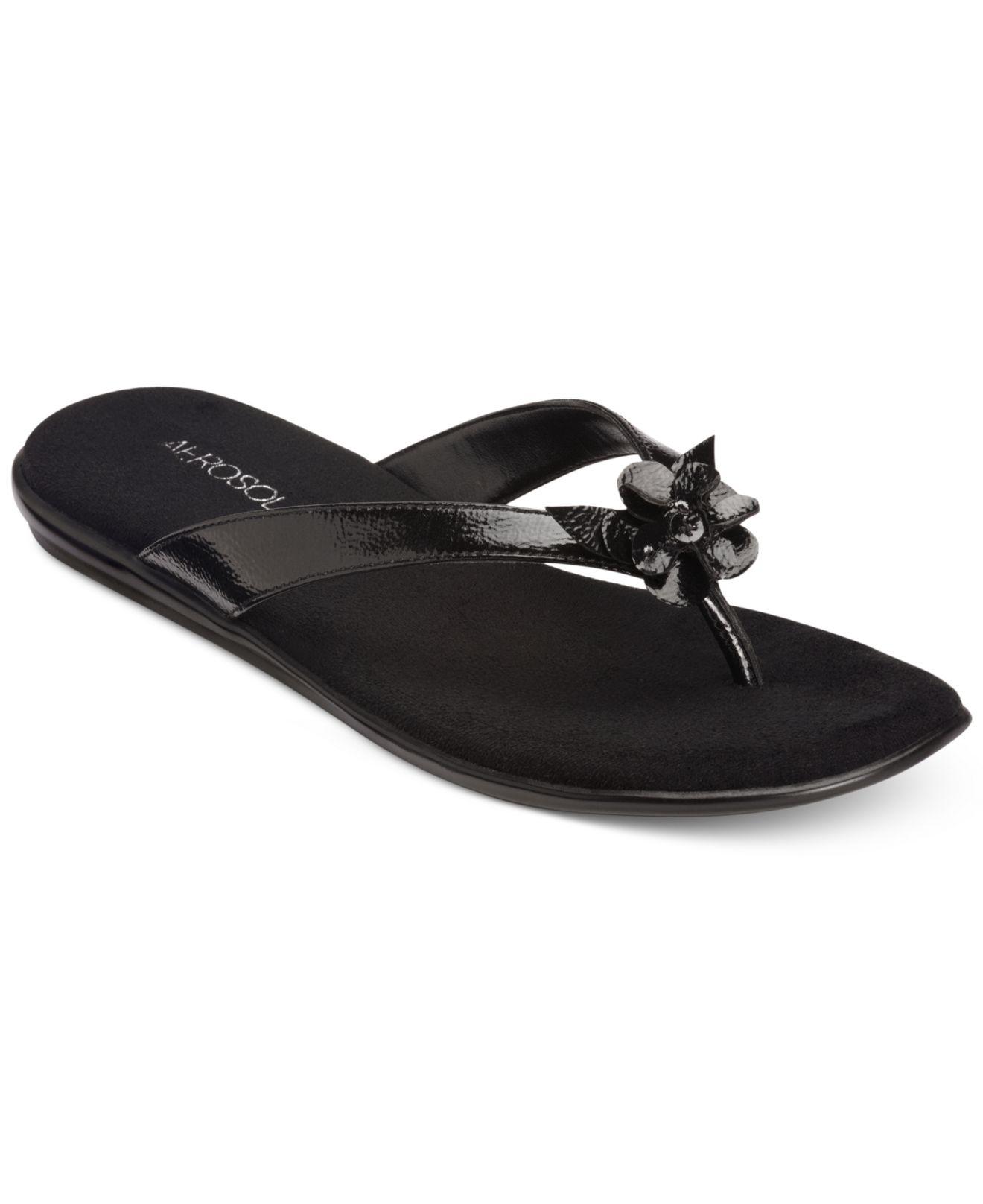 24e18a7e0e2 Lyst - Aerosoles Branchlet Flip Flop Sandals in Black