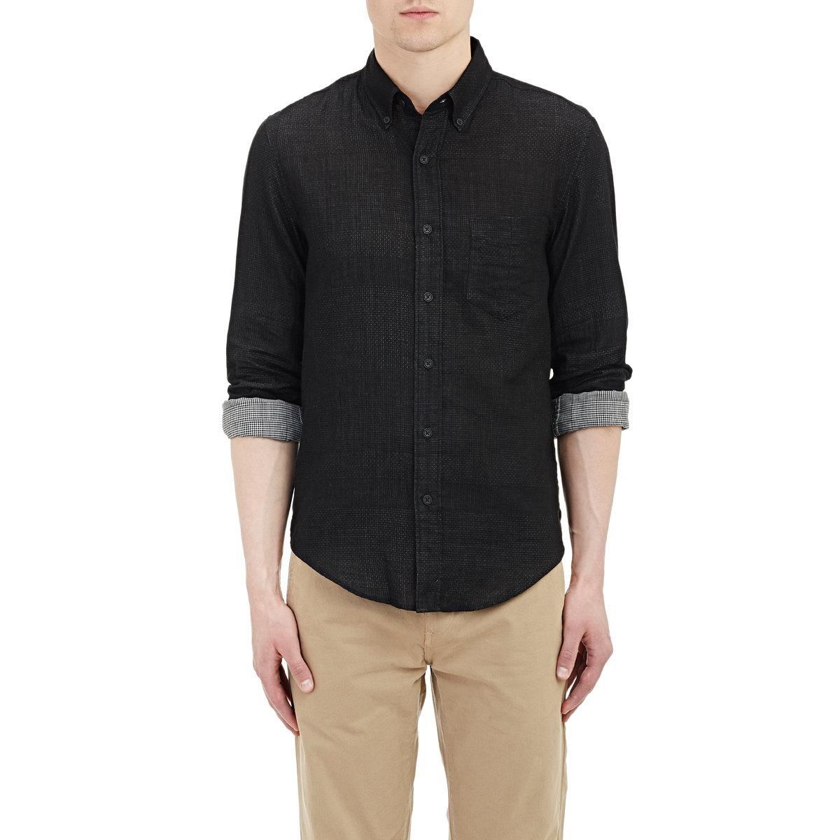 Rag bone yokohama shirt in black for men lyst for Rag bone shirt