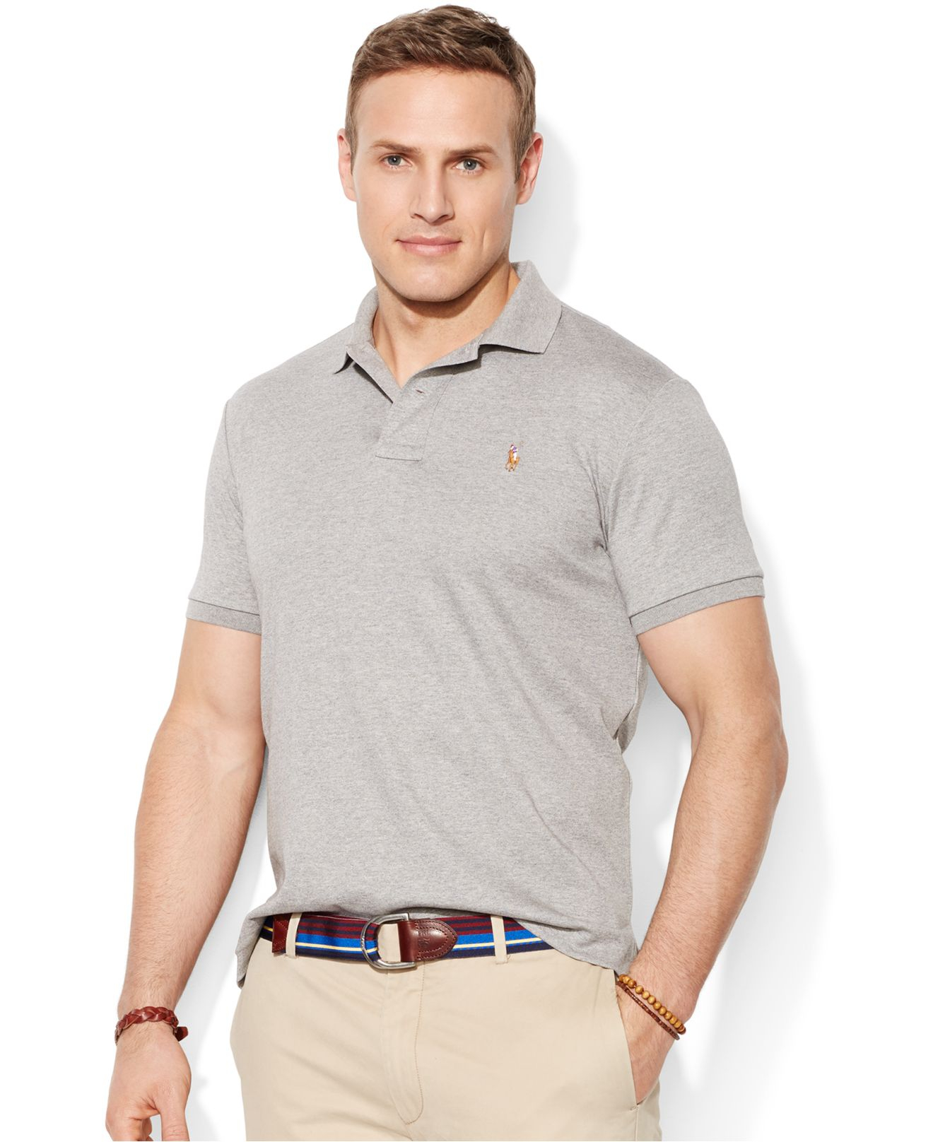 89f9de50 ... best lyst polo ralph lauren big and tall pima soft touch interlock polo  7ff61 8b5d5