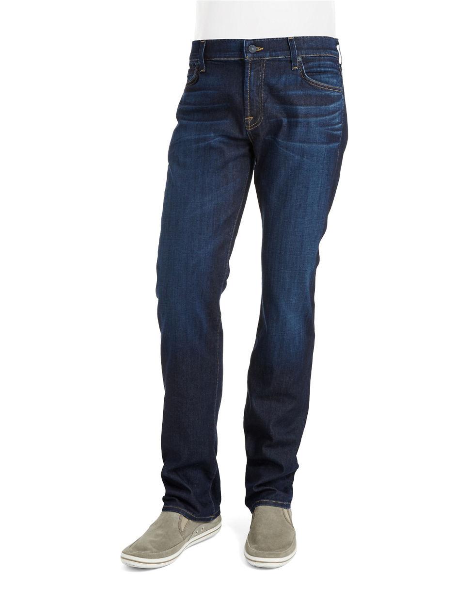 lyst 7 for all mankind straight leg jeans in blue for men. Black Bedroom Furniture Sets. Home Design Ideas