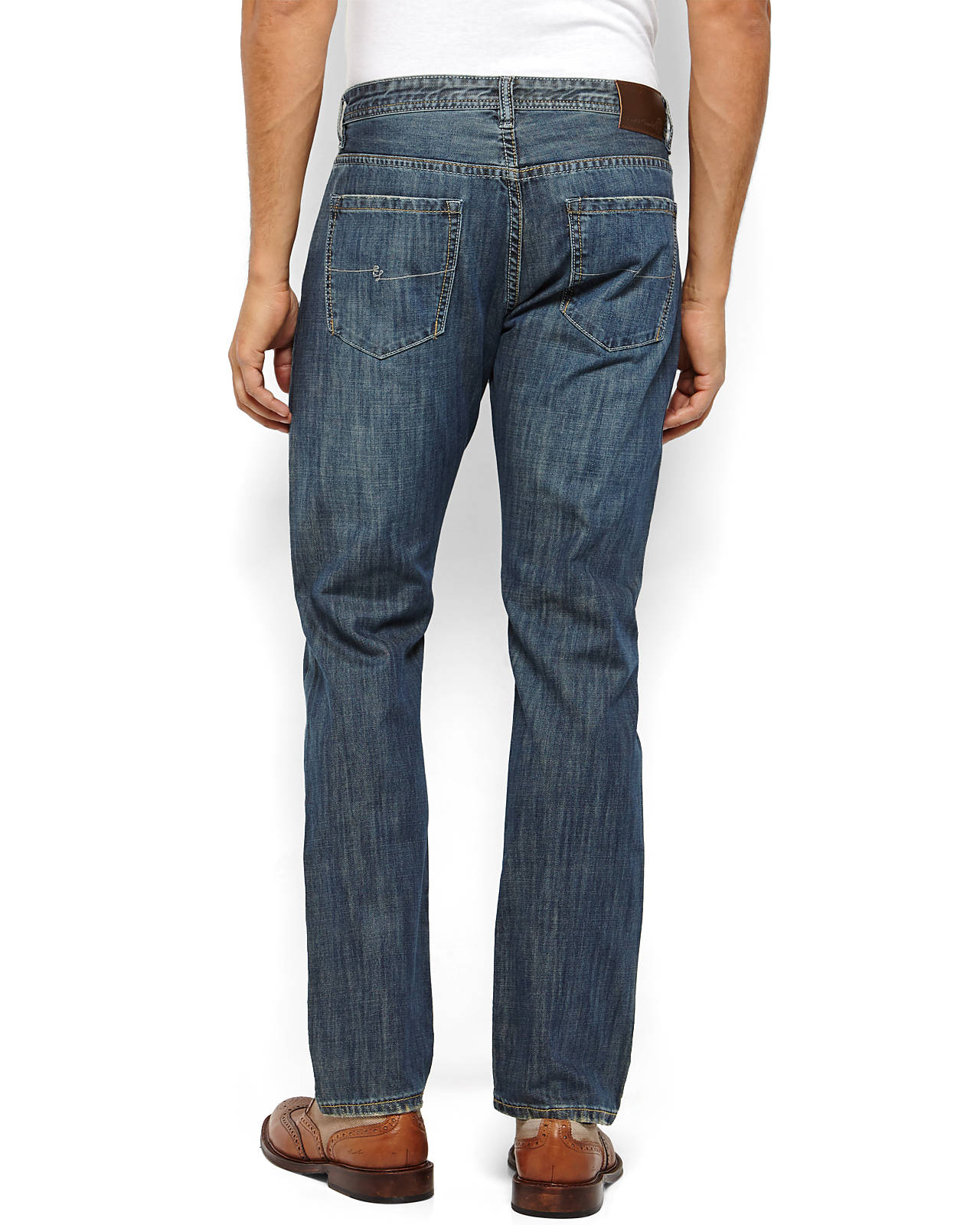 English Laundry Carnaby Slim Fit Distressed Jeans In Blue