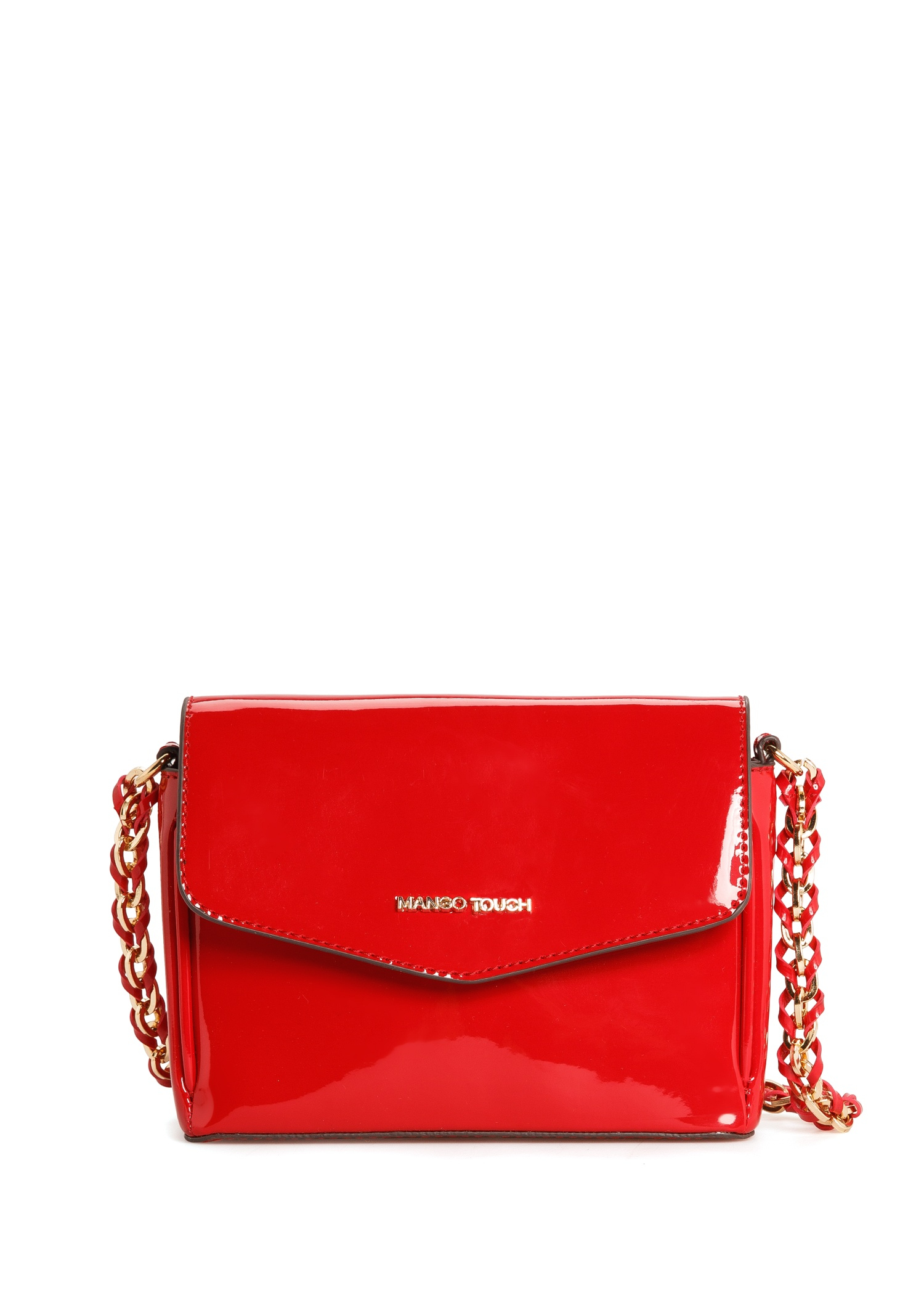 4f3699c5c46 Lyst - Mango Patent Cross Body Bag in Red
