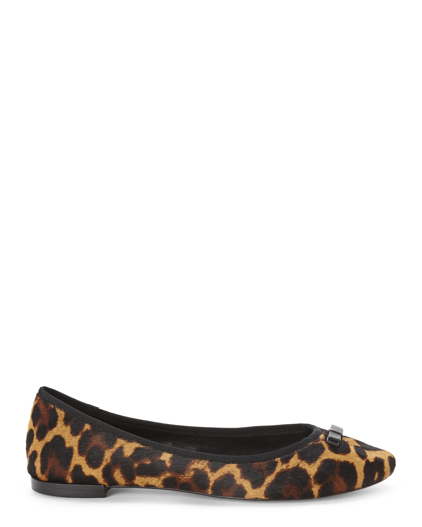 40b61579e0ce Vince Camuto Signature Leopard Print Marion Ballet Flats - Lyst