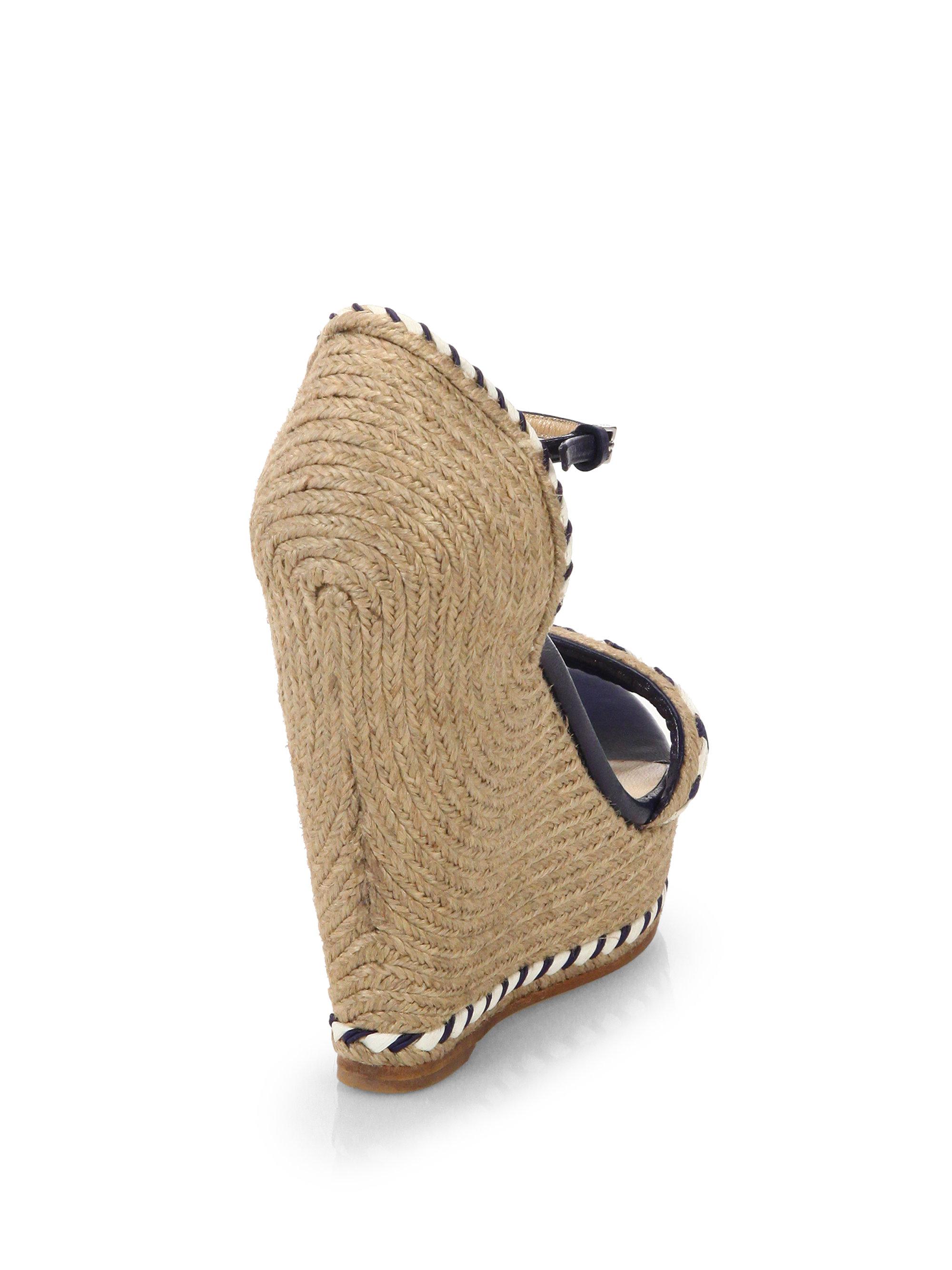 a82146ec2b3 Lyst - Gucci Tiffany Espadrille Wedge Sandals in Brown