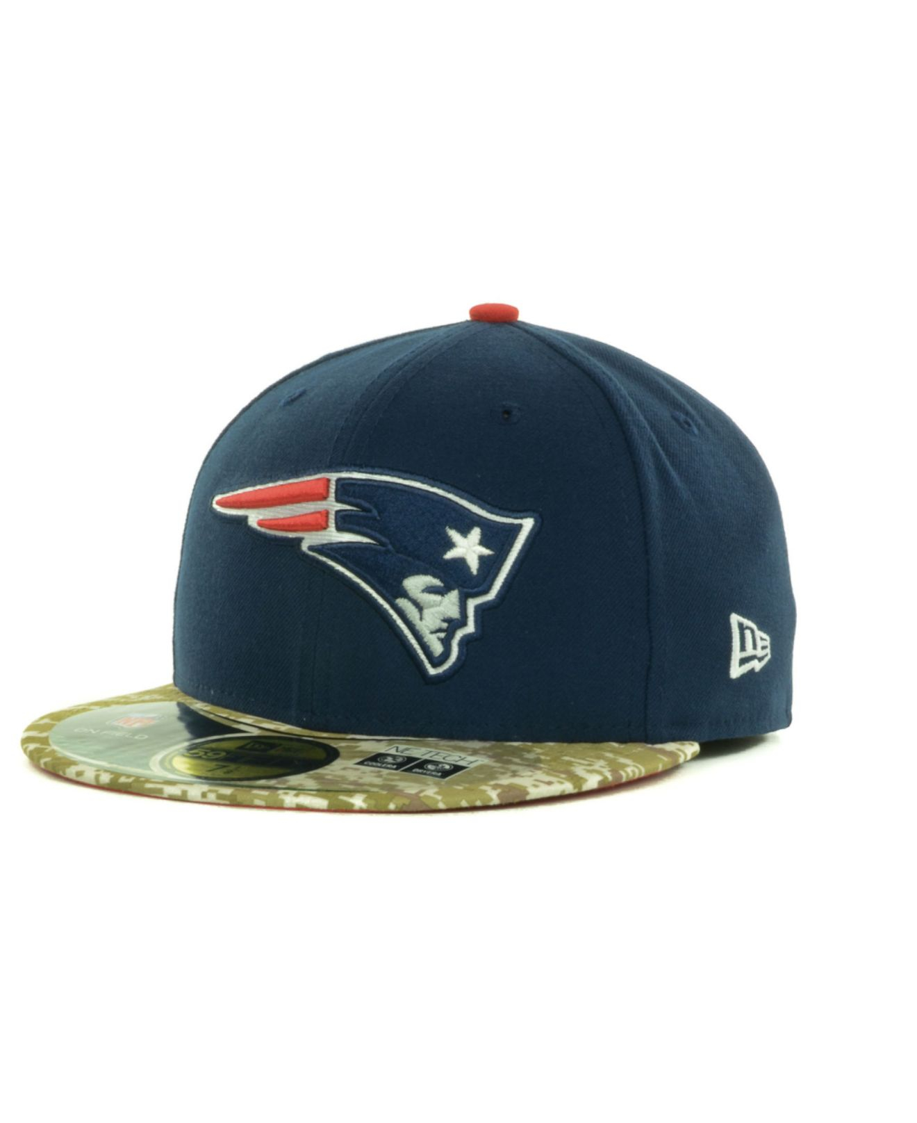 18fe5a149c4 ... discount code for lyst ktz new england patriots salute to service on  field 59fifty 42693 451c7