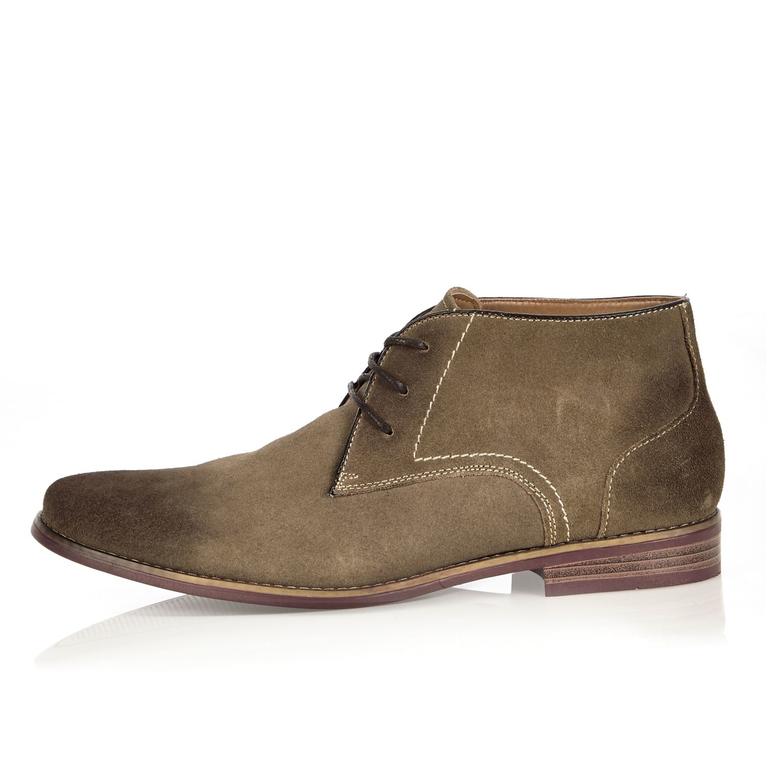 River Island - Multicolor Stone Suede Chukka Boots for Men - Lyst