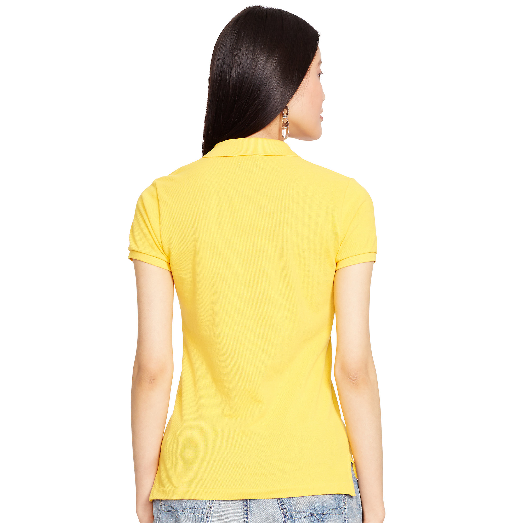 Polo Ralph Lauren | Yellow Skinny-fit Big Pony Polo Shirt | Lyst. View Fullscreen