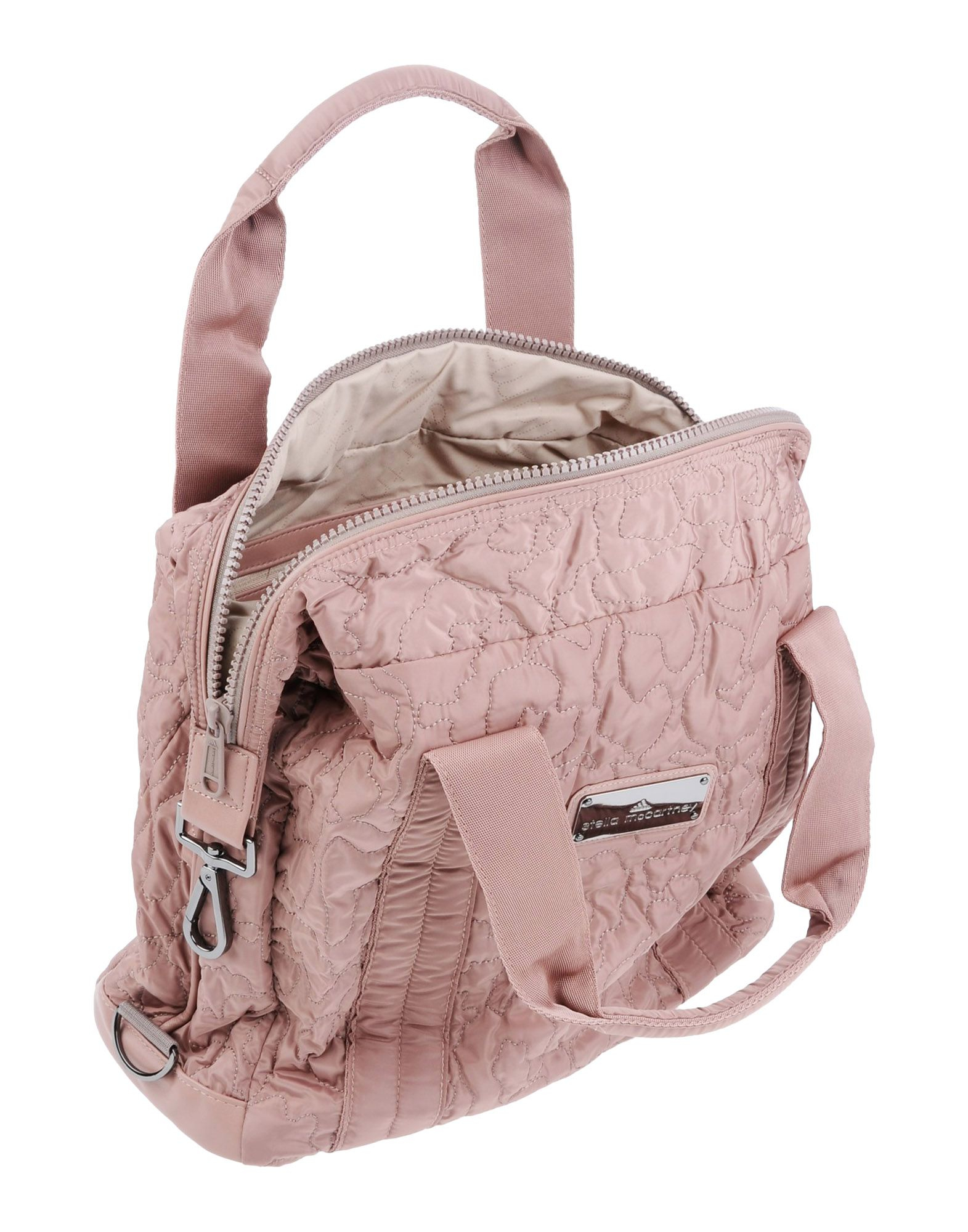 Adidas By Stella Mccartney Medium Quilted Gym Bag In Pink
