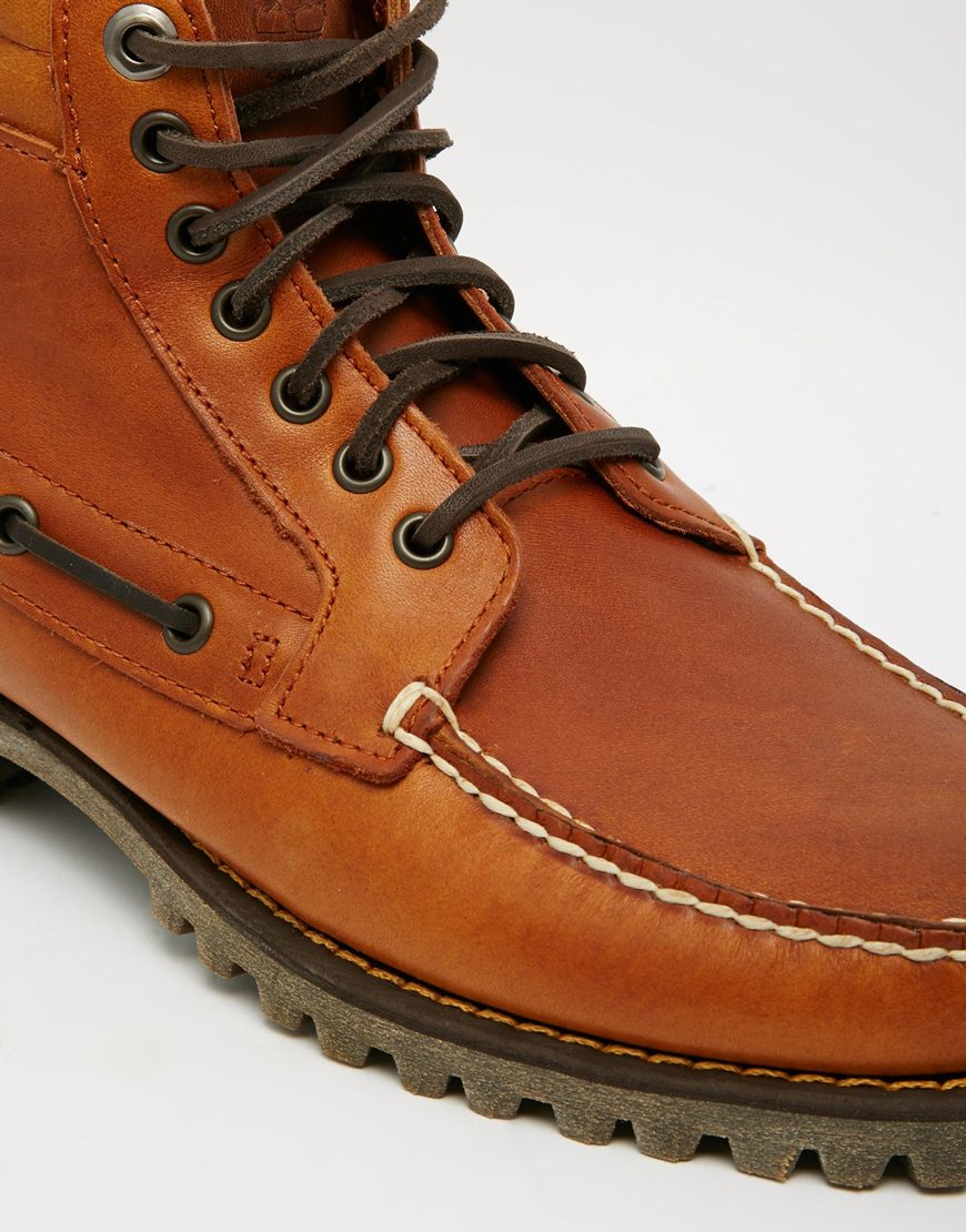 Timberland Boat Boots in Brown for Men | Lyst