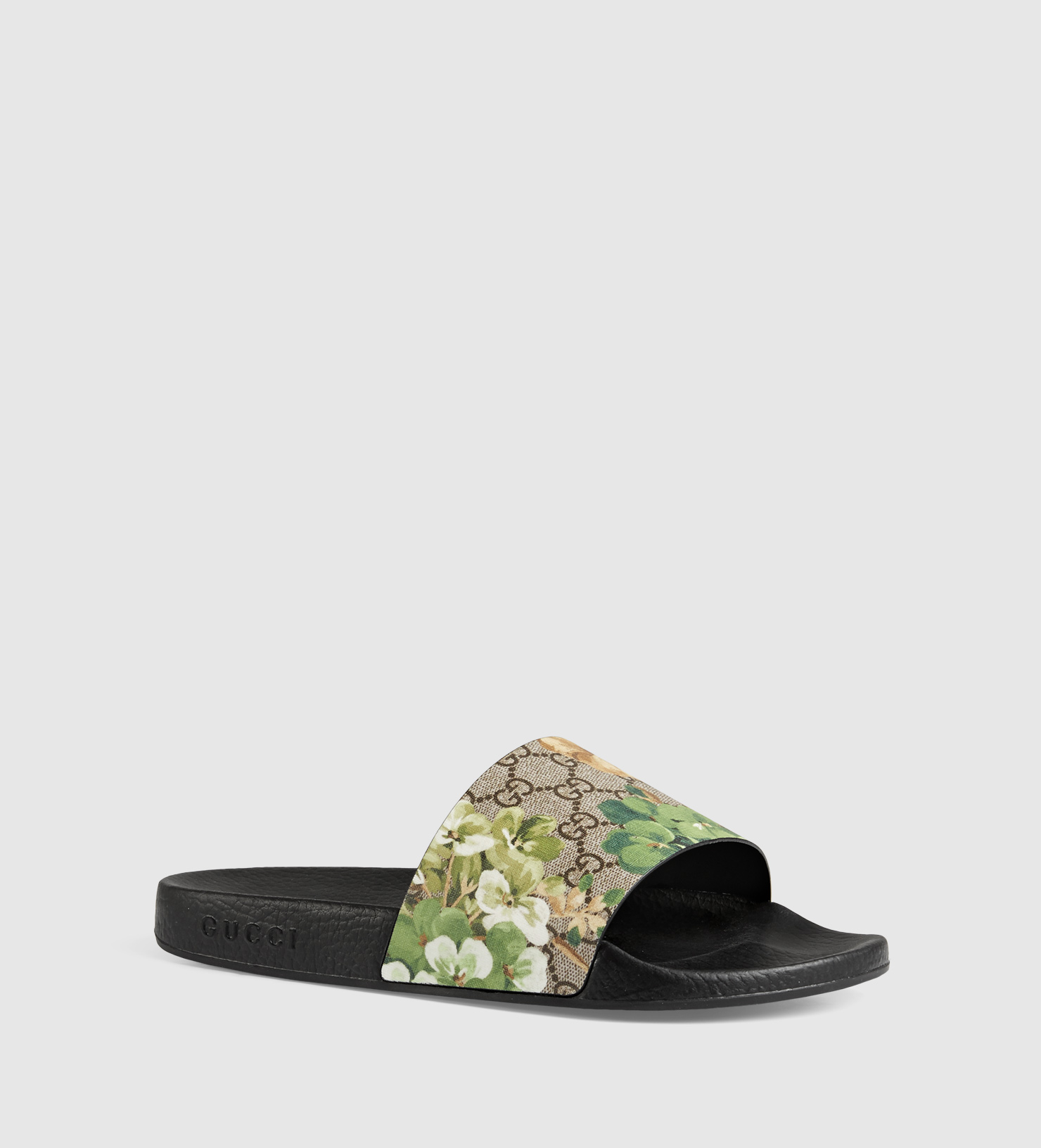 Lyst Gucci Blooms Print Sandal In Green For Men