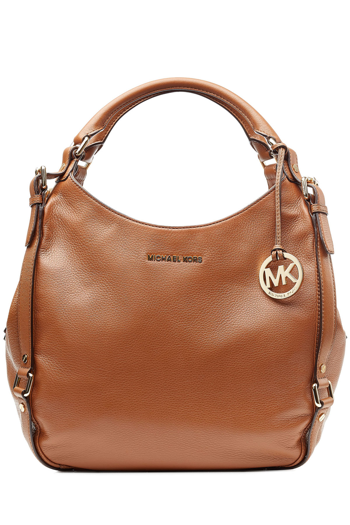 michael michael kors leather bedford hobo bag in brown lyst. Black Bedroom Furniture Sets. Home Design Ideas