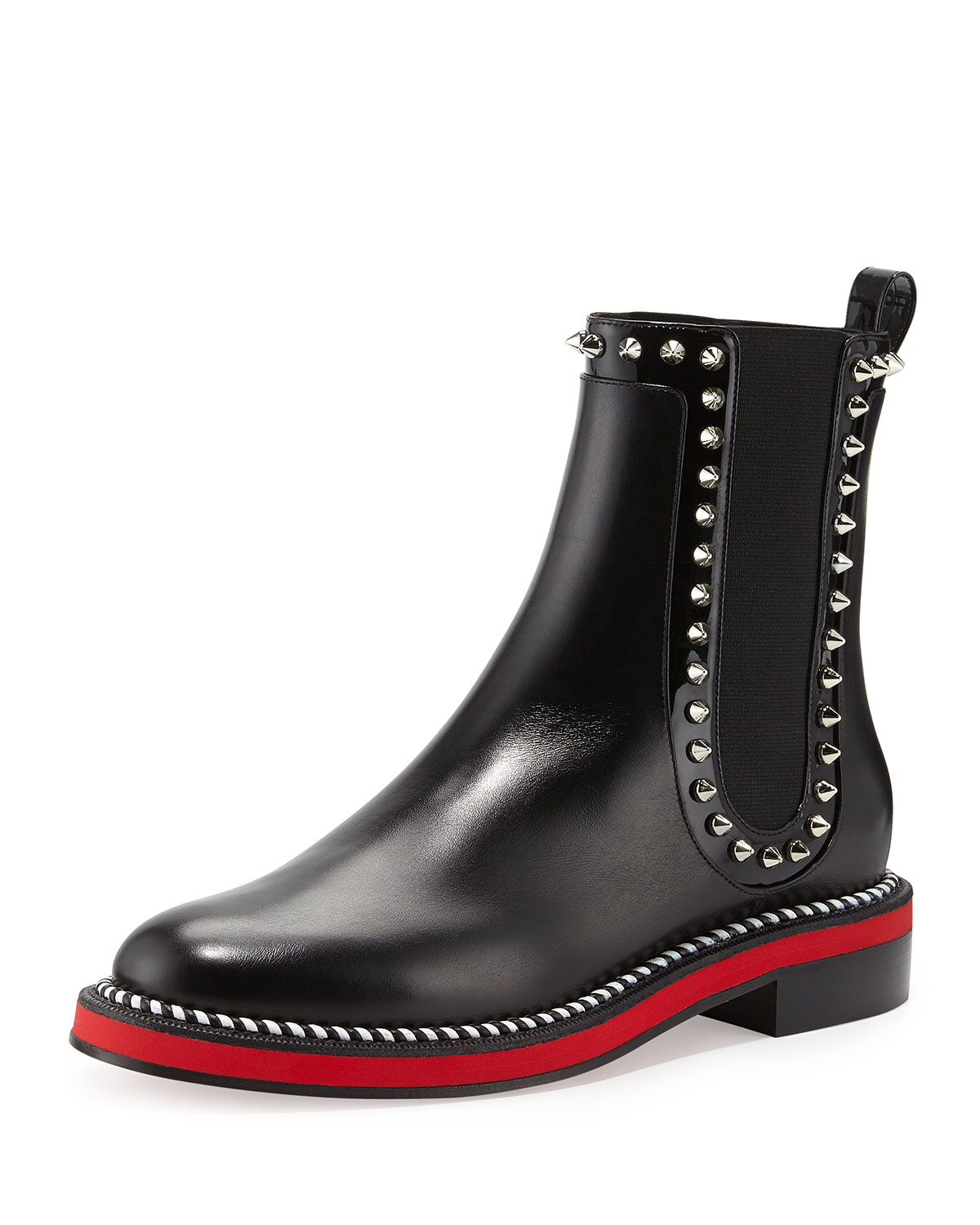 e3091ee3fbdb Lyst - Christian Louboutin Nothing Hill Red Sole Boot in Black