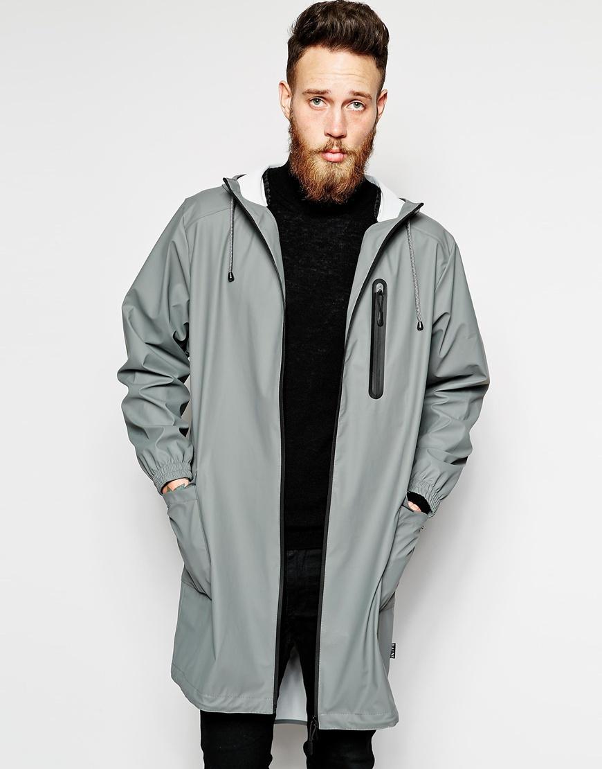 Rains Waterproof Parka Jacket in Gray for Men | Lyst
