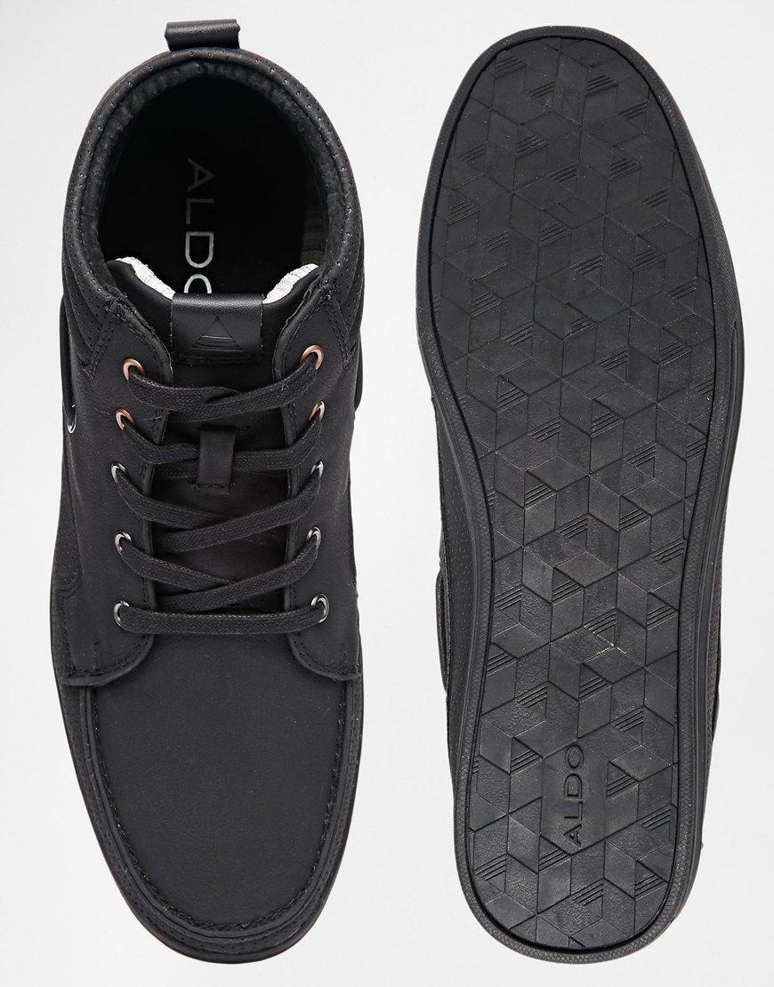 63548f7fcb4e47 Lyst - ALDO Olaywet Mid Boat Shoes in Black for Men