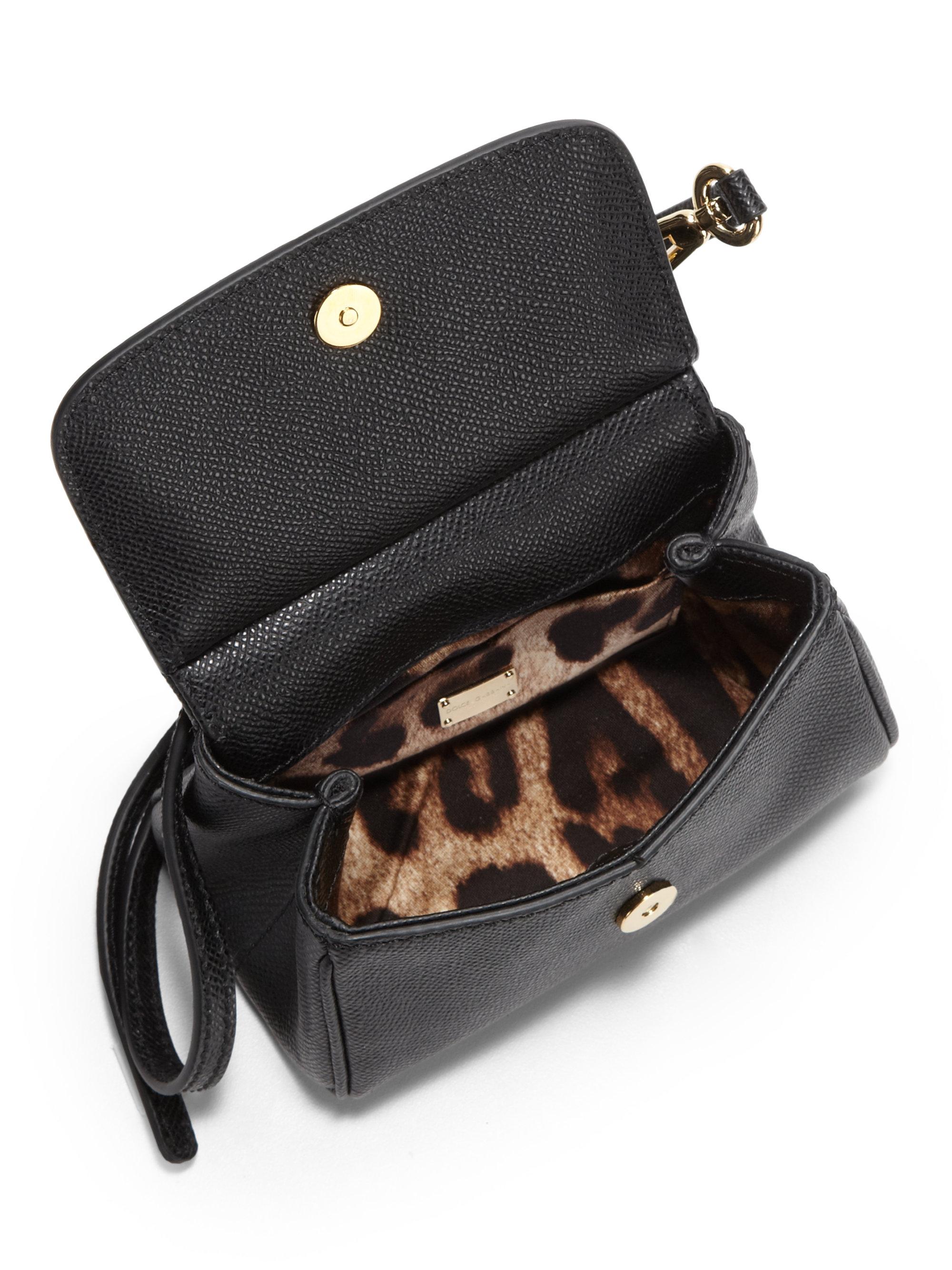 f9b9f473b1 Lyst - Dolce   Gabbana Mini Miss Sicily Cross Body Bag in Black