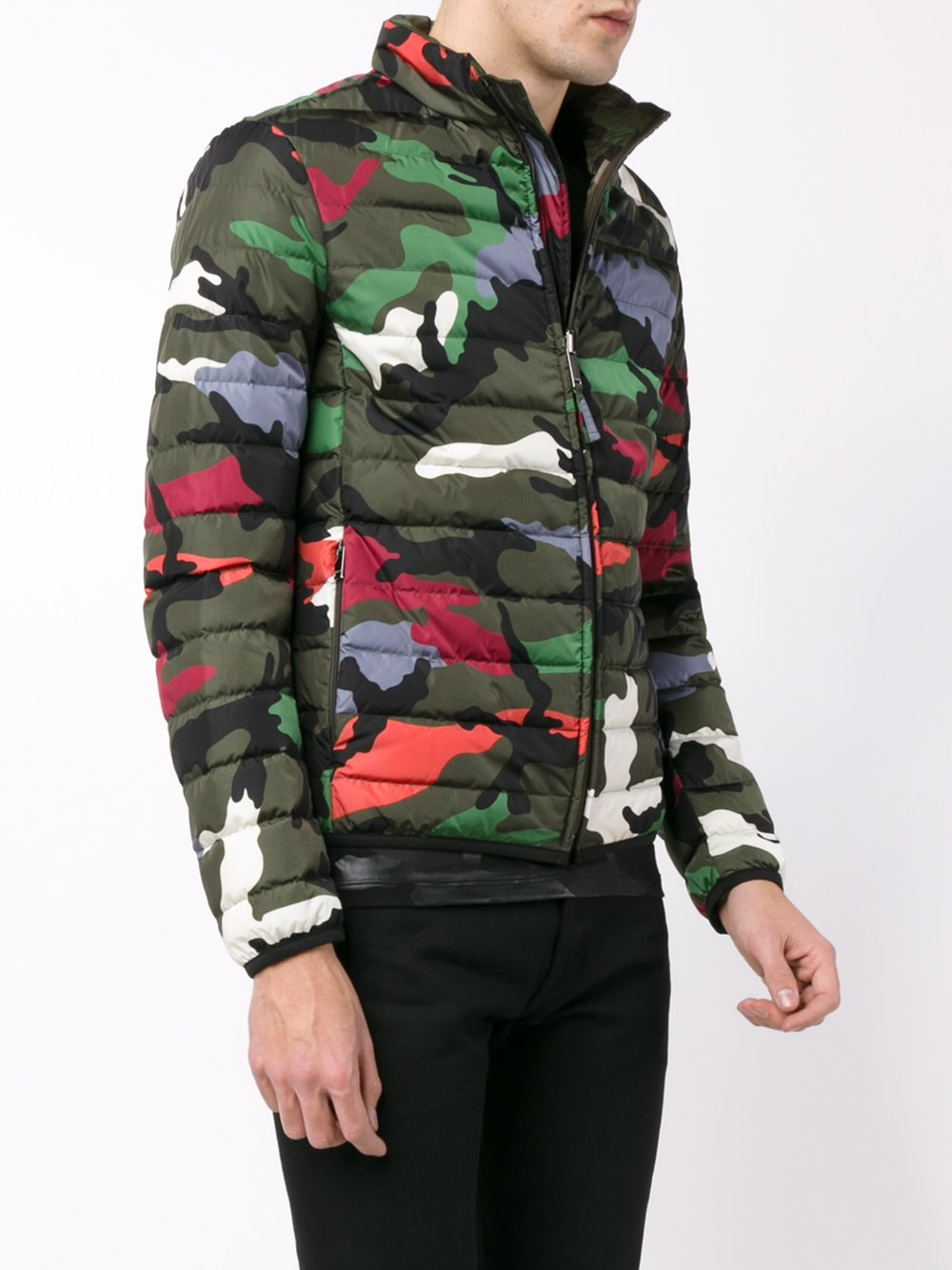 Barbour Sapper Jacket >> Valentino Reversible Camouflage Padded Jacket for Men - Lyst