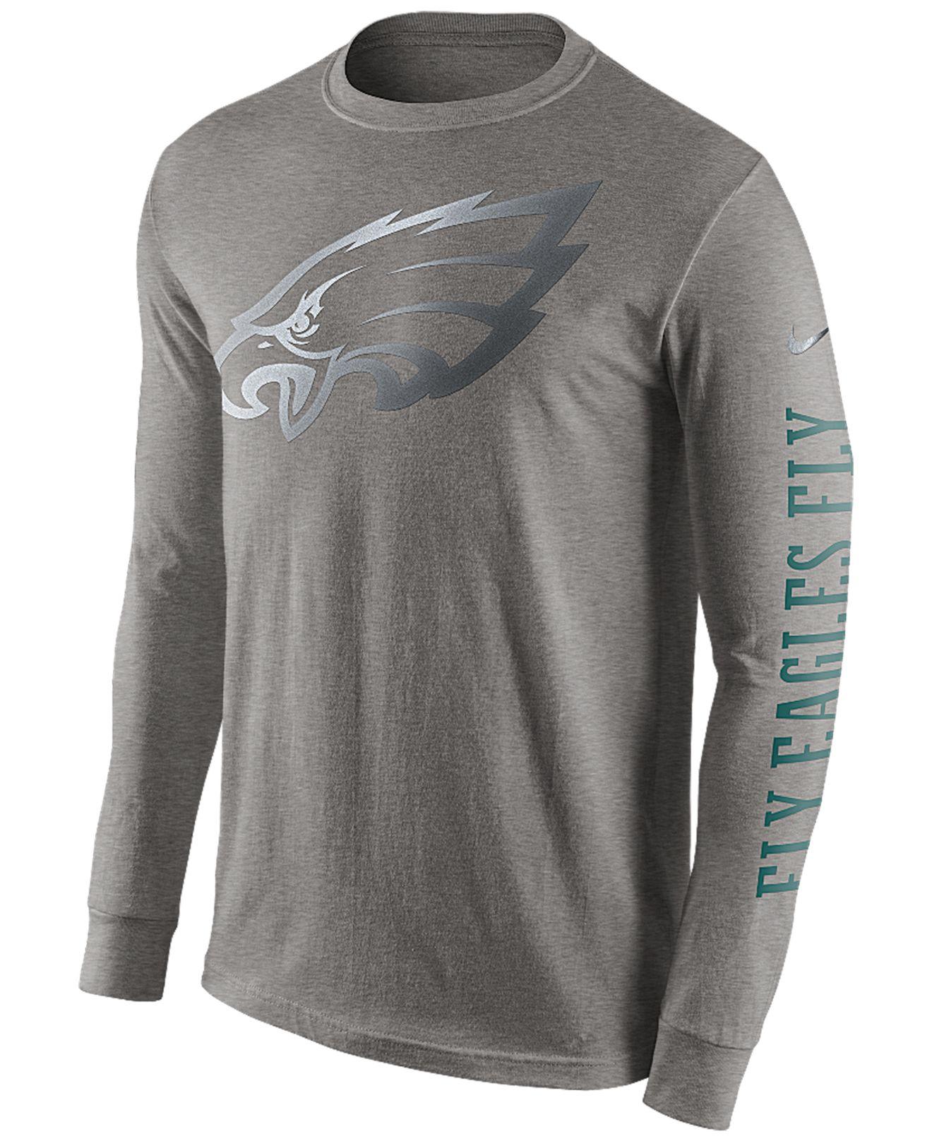 Lyst - Nike Men S Long-Sleeve Philadelphia Eagles Reflective T-Shirt ... 875900abf