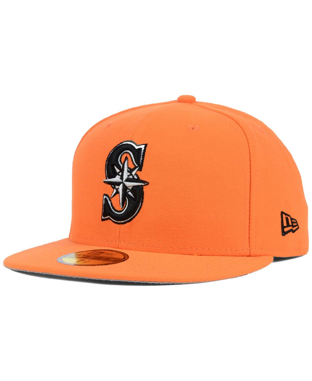 super popular 46414 27dd0 ... sweden lyst ktz seattle mariners c dub 59fifty cap in orange for men  63c51 dbef8