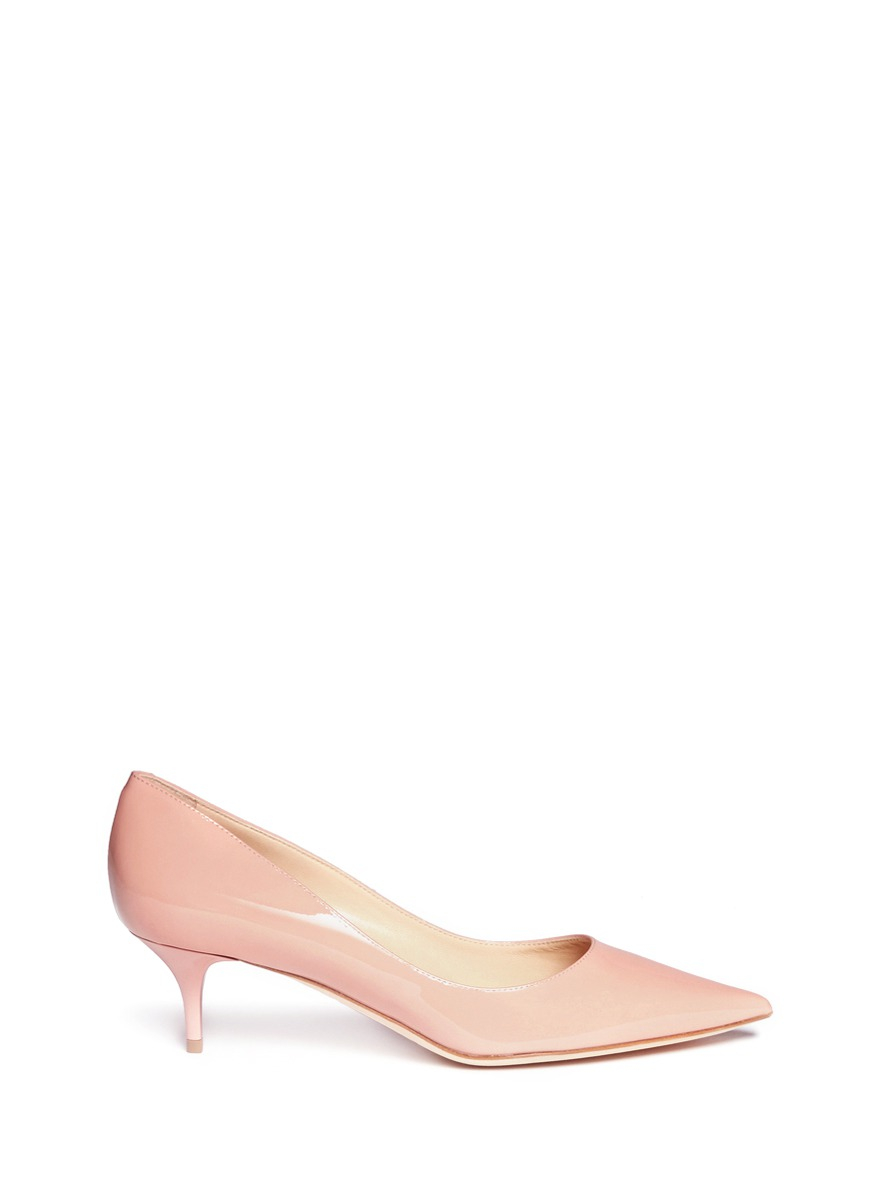 Peach Kitten Heels - Is Heel