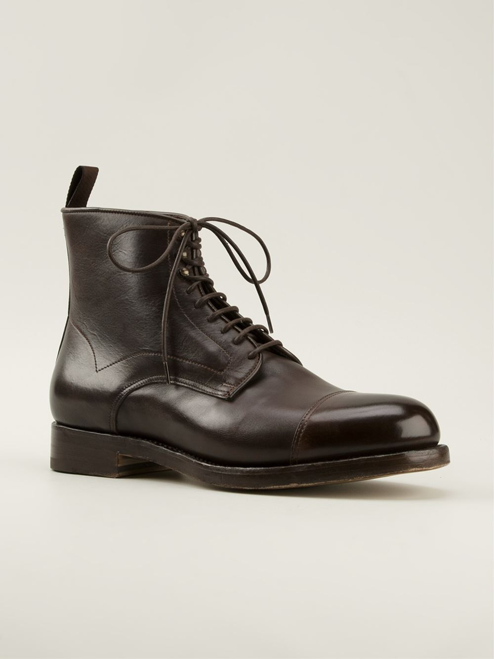 Lace-up boots brown Santoni RgIGYke