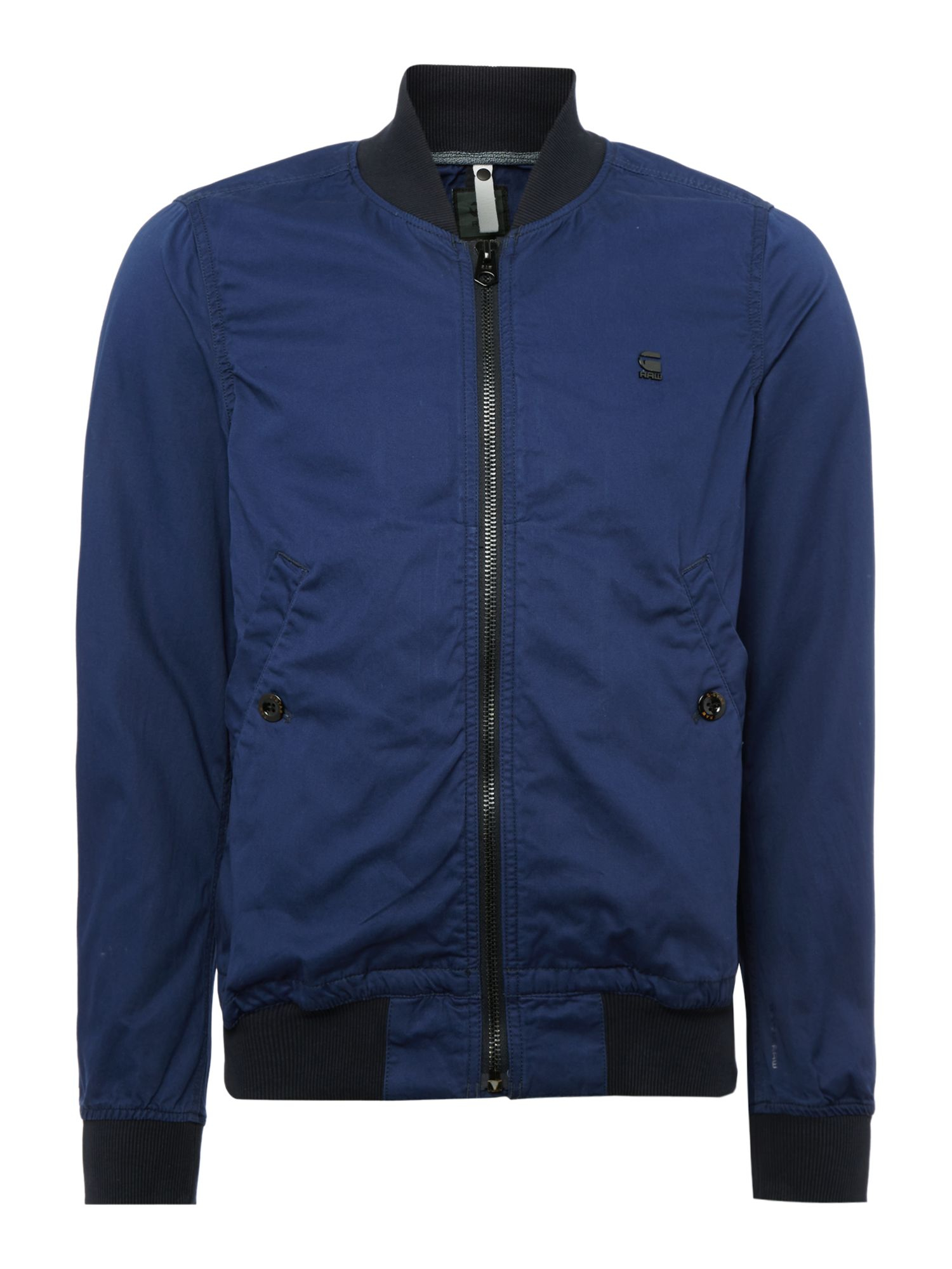 g star raw shattor slim zip up bomber jacket in blue for men lyst. Black Bedroom Furniture Sets. Home Design Ideas
