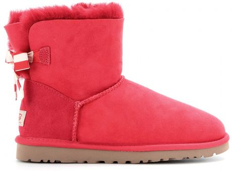 mini bailey bow uggs red
