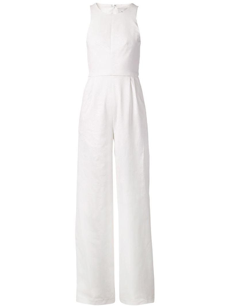77e60b28796 Lyst - Novis Wide Leg Jumpsuit in White
