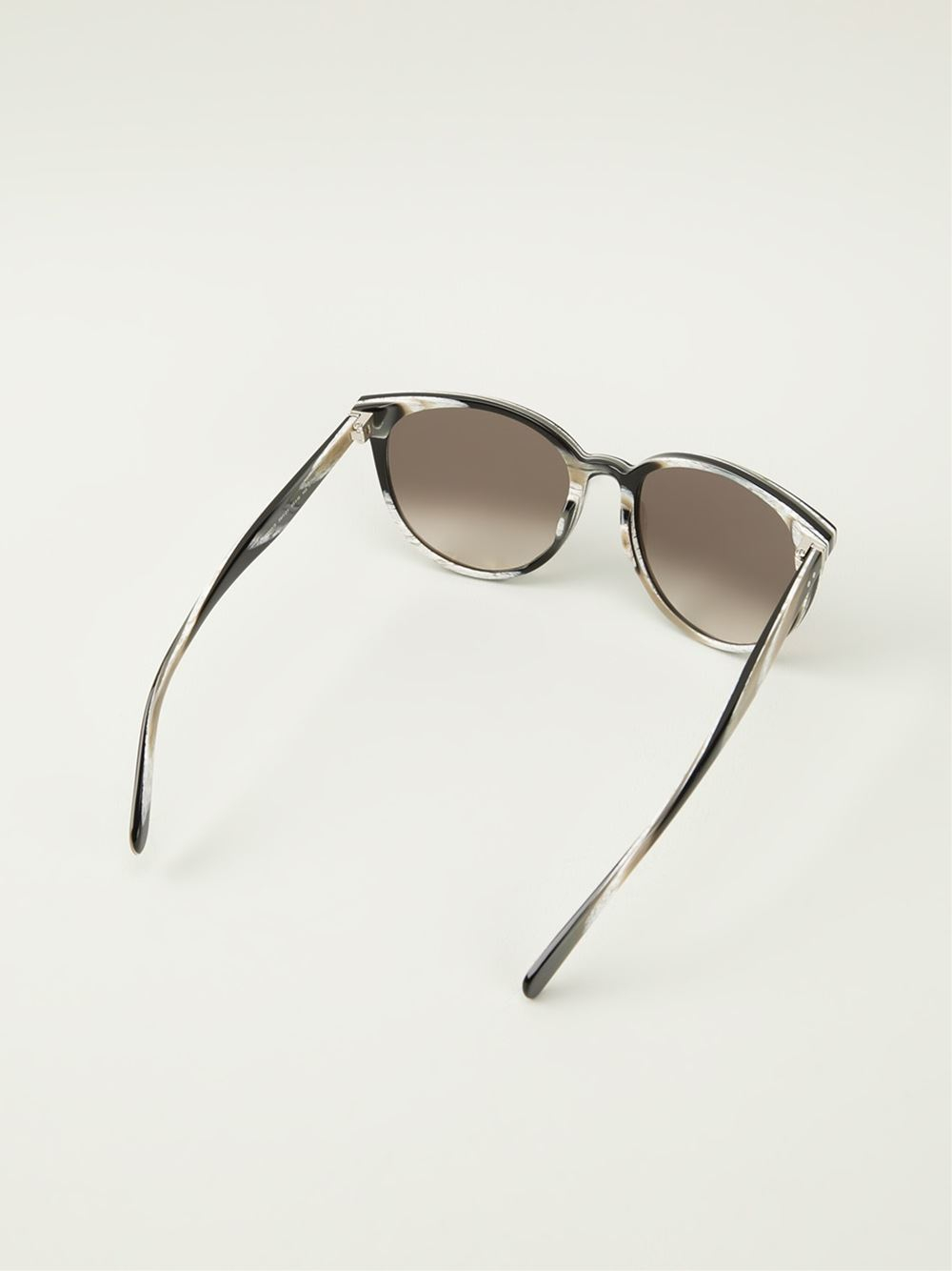 Lyst C 233 Line Thin Mary Sunglasses In Brown