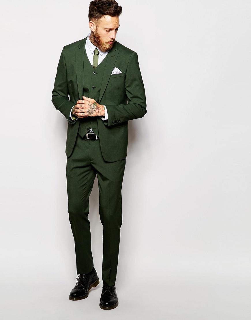 Asos Skinny Suit Trousers In Green in Green for Men   Lyst
