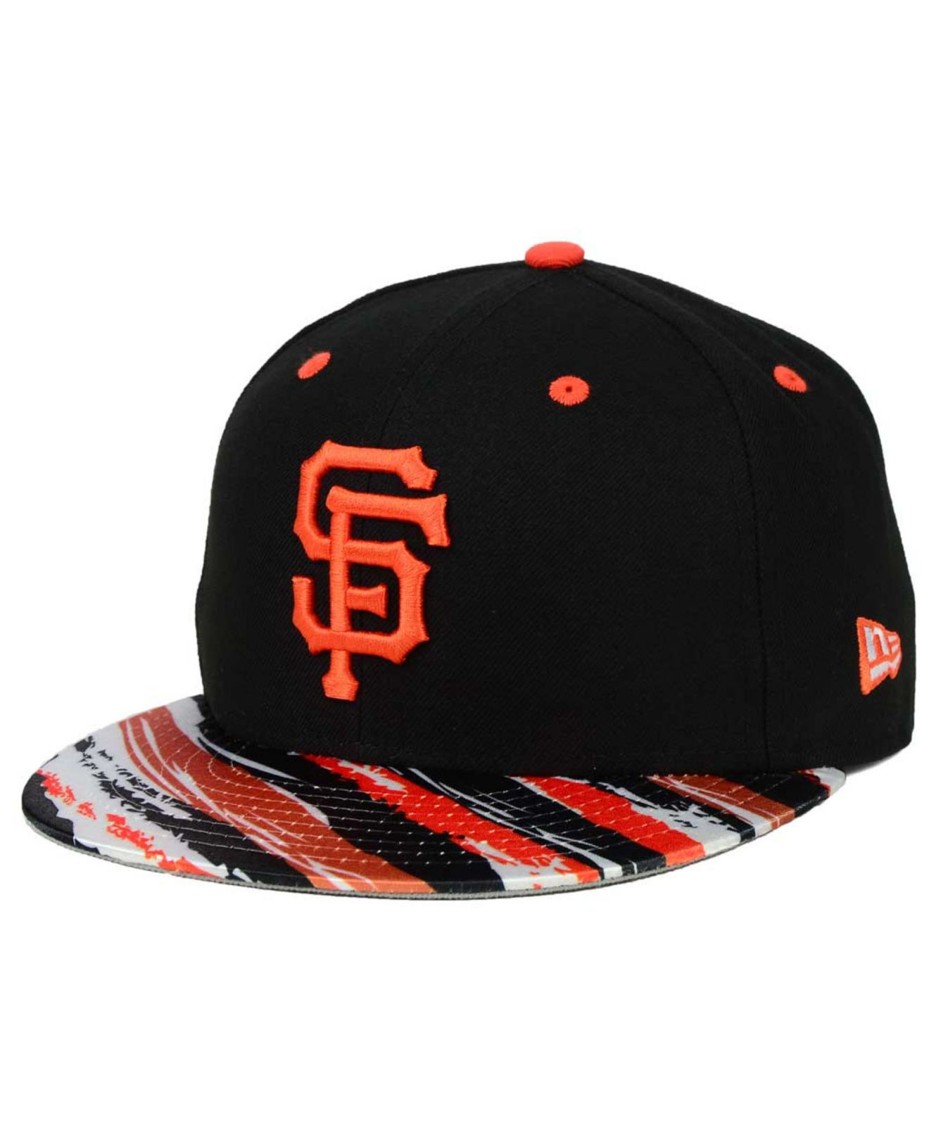 new arrival 7963f 8e257 Lyst - Ktz San Francisco Giants Action Print 59fifty Cap in Black ...