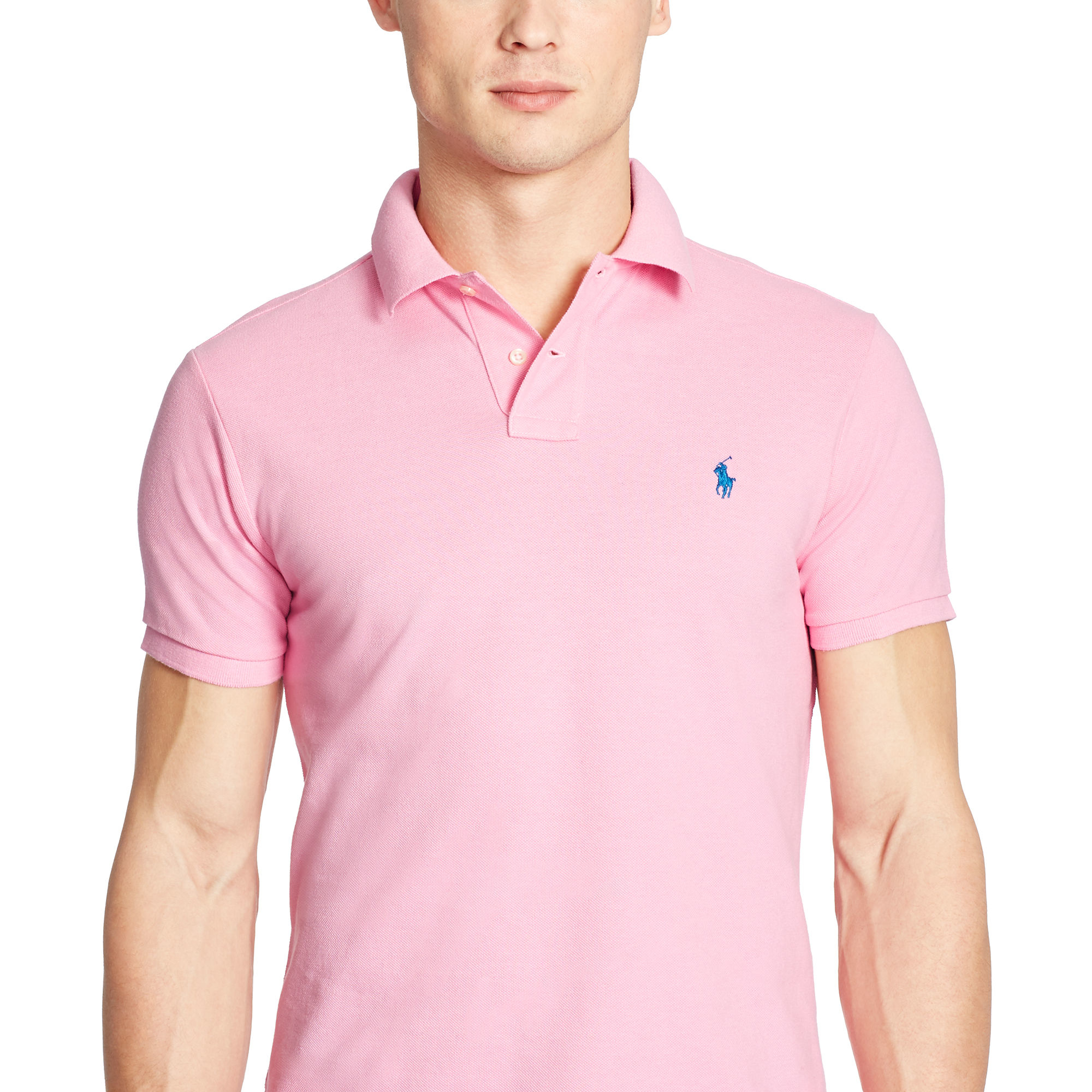 Ralph lauren pink polo shirts for Ralph lauren custom fit mesh polo shirt