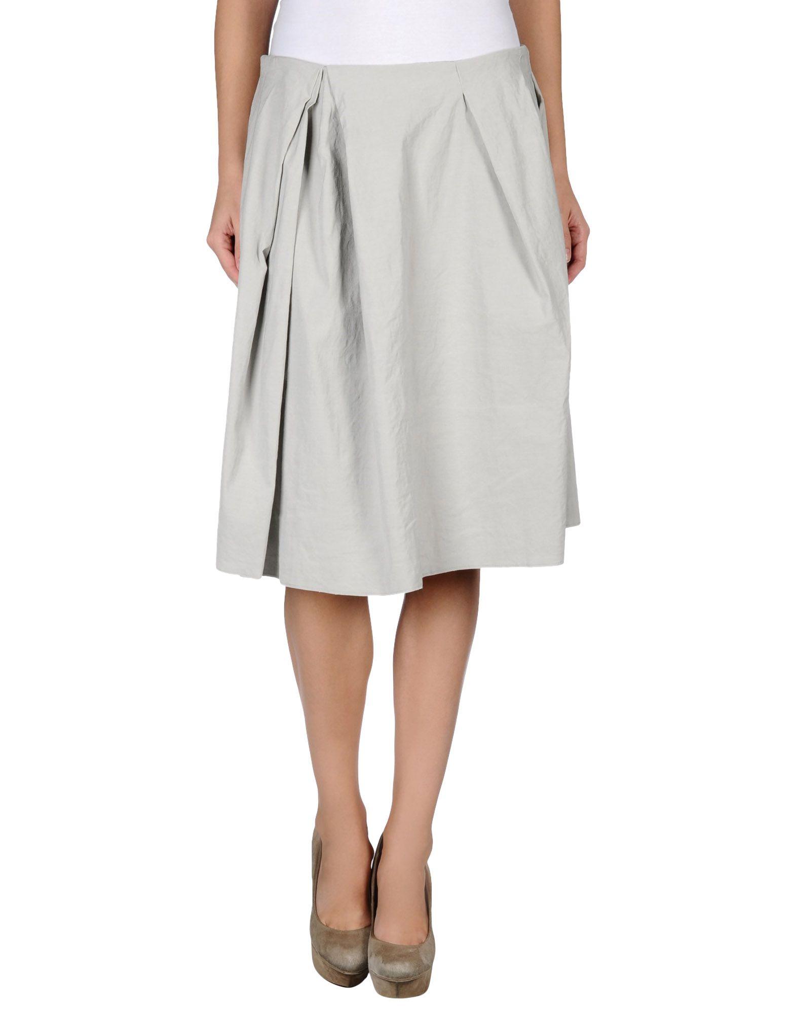 acne studios denim skirt in gray lyst
