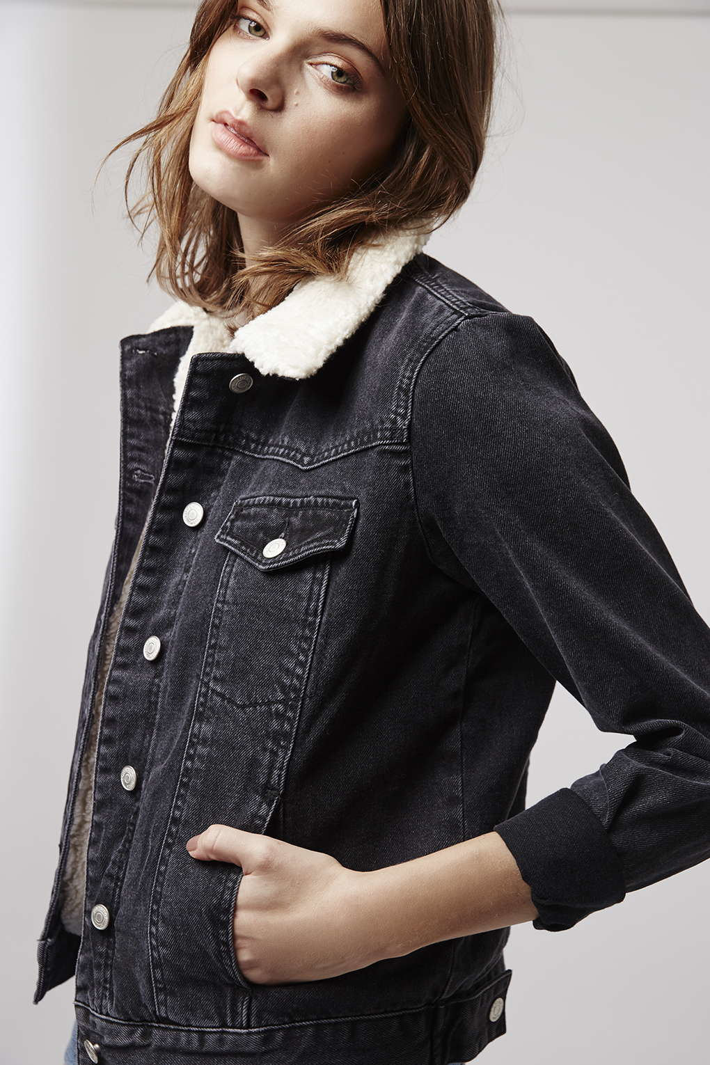 Black denim jacket womens
