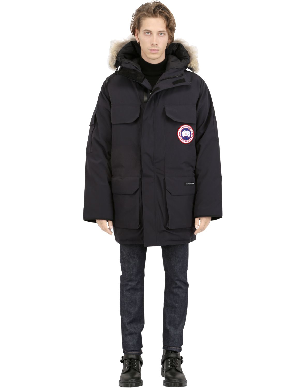 Canada Goose kensington parka outlet store - Canada goose Citadel Coyote Trim Down Parka in Black for Men | Lyst