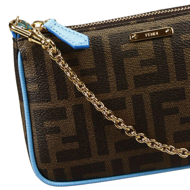 68ee11283267 Lyst - Fendi Clutch Bag Mini Zucca Pu Crossbody With Contrast in Blue