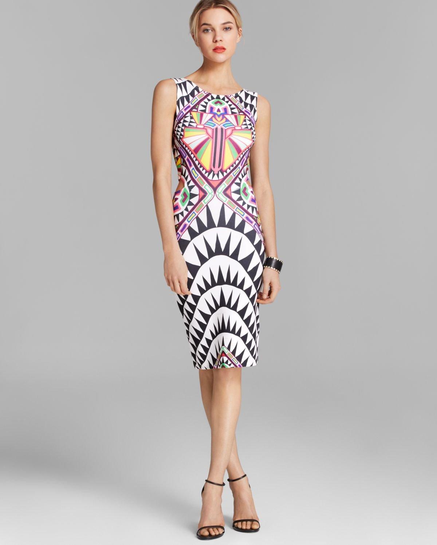Mara Hoffman Dress Cosmic Fountain Side Cutout In Black Lyst
