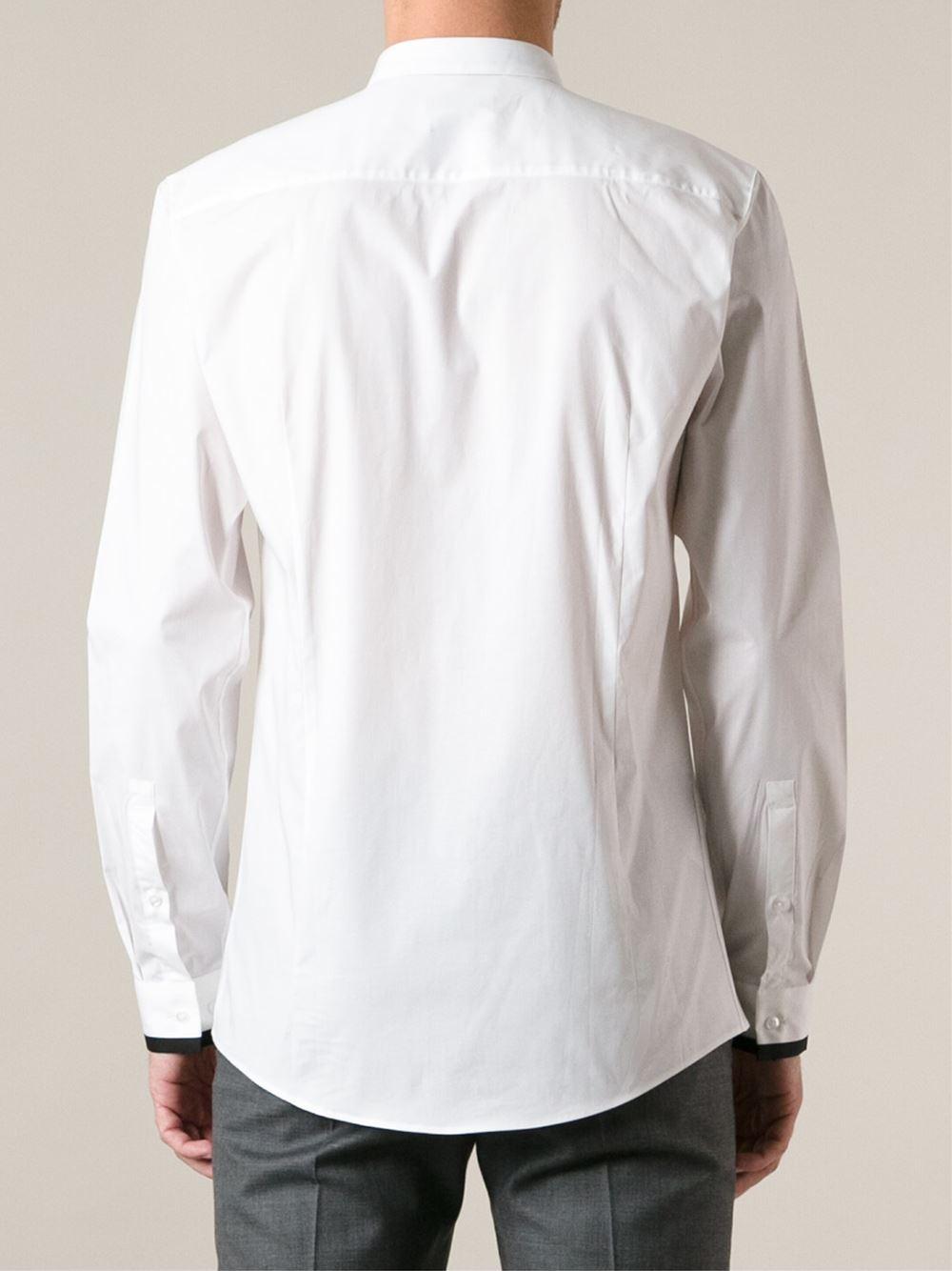 Hugo 39 edrion 39 shirt in white for men lyst for Hugo boss formal shirts