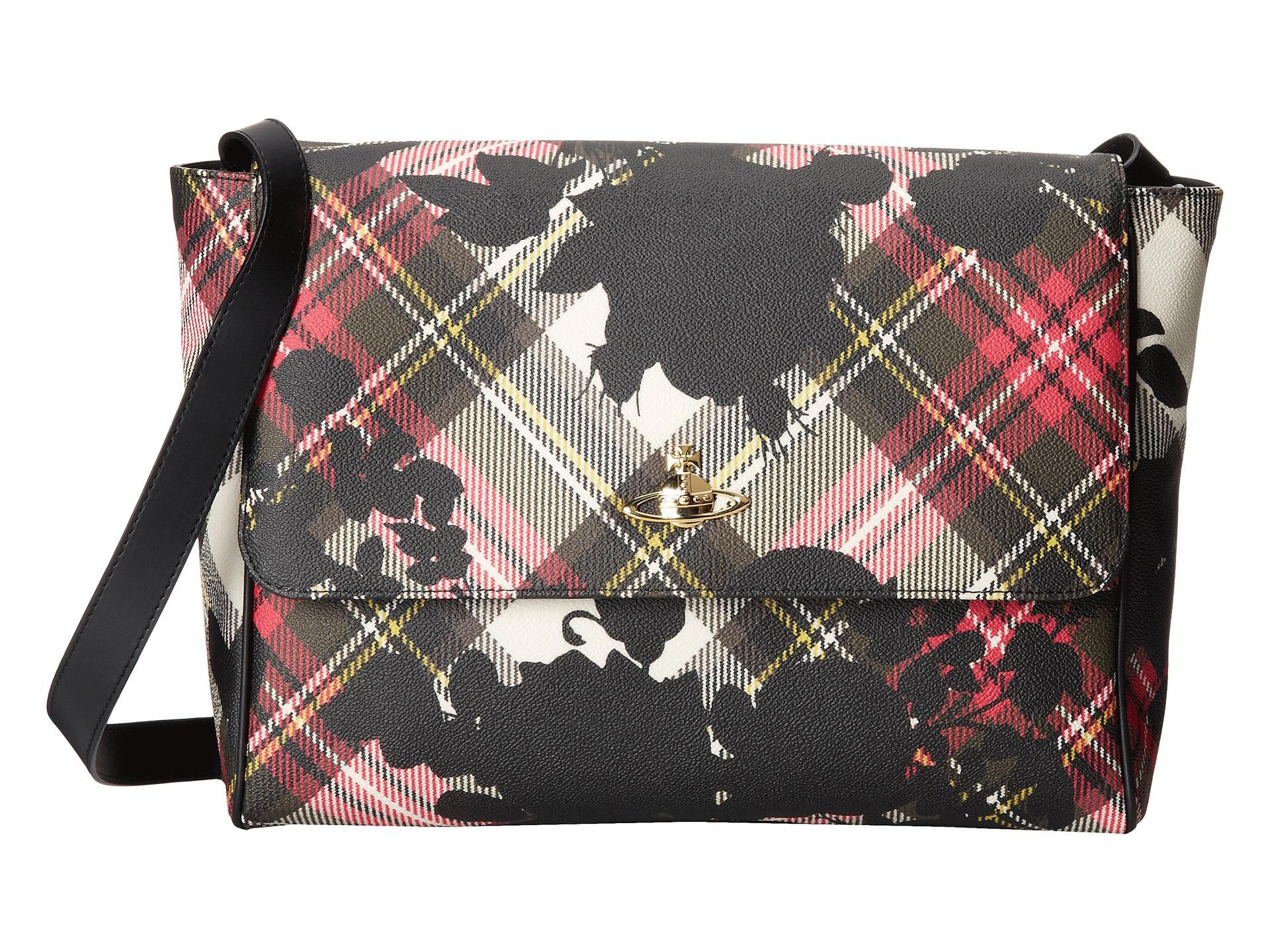 3ca0f64271 Lyst - Vivienne Westwood Derby Roses Large Shoulder Bag in Black