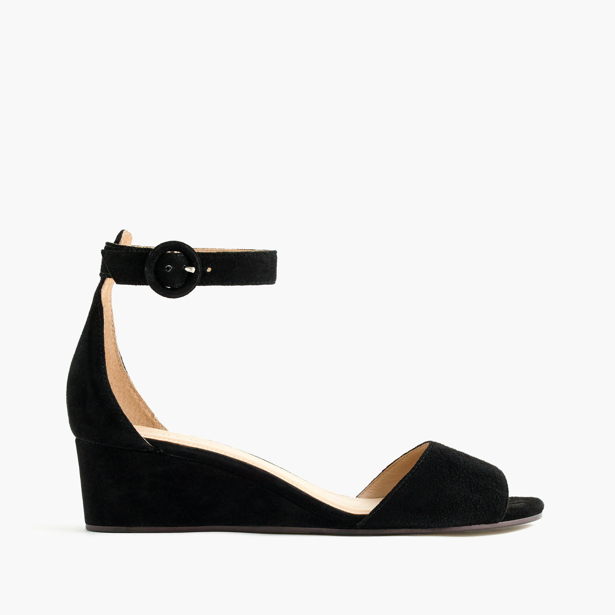 e7a13f08012cdd Lyst - J.Crew Laila Wedges In Suede in Black
