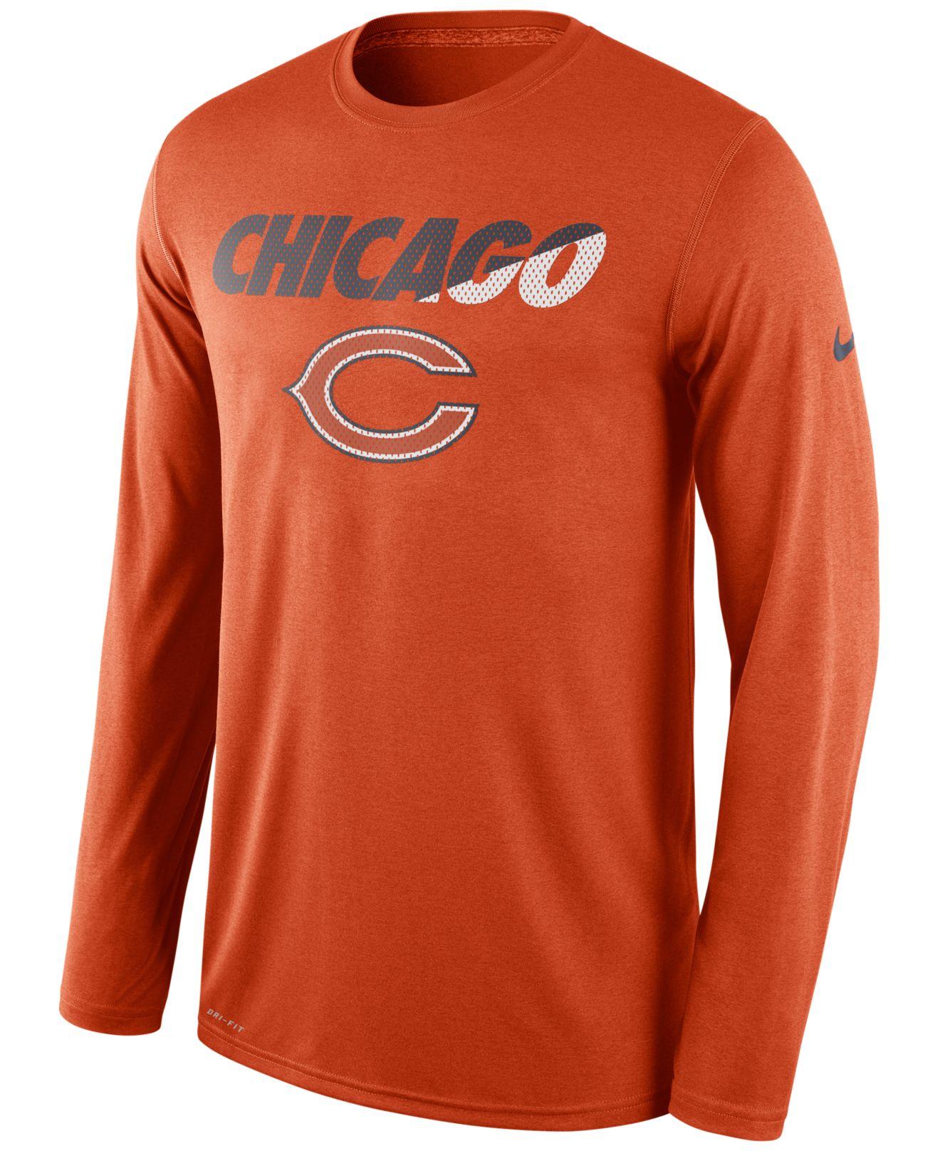 ... Nike Mens Long-sleeve Chicago Bears Legend Staff Practice T- Mens 2017  NFL ... 927f45979