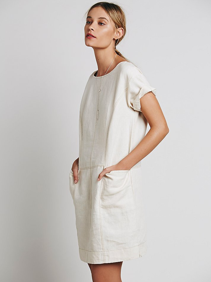 Lyst - Free People Womens Endless Shore Dress in White cdd78d15a